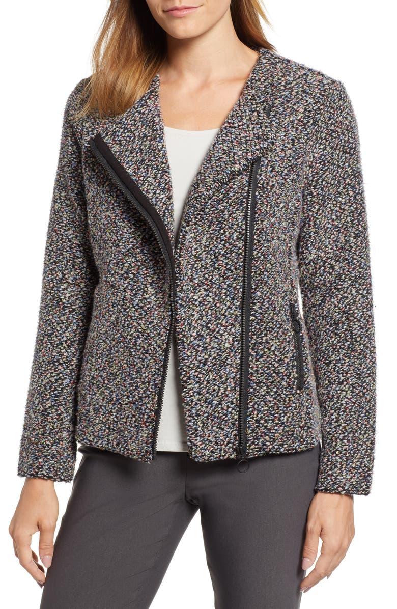 Confetti Cotton Blend Boucle Jacket