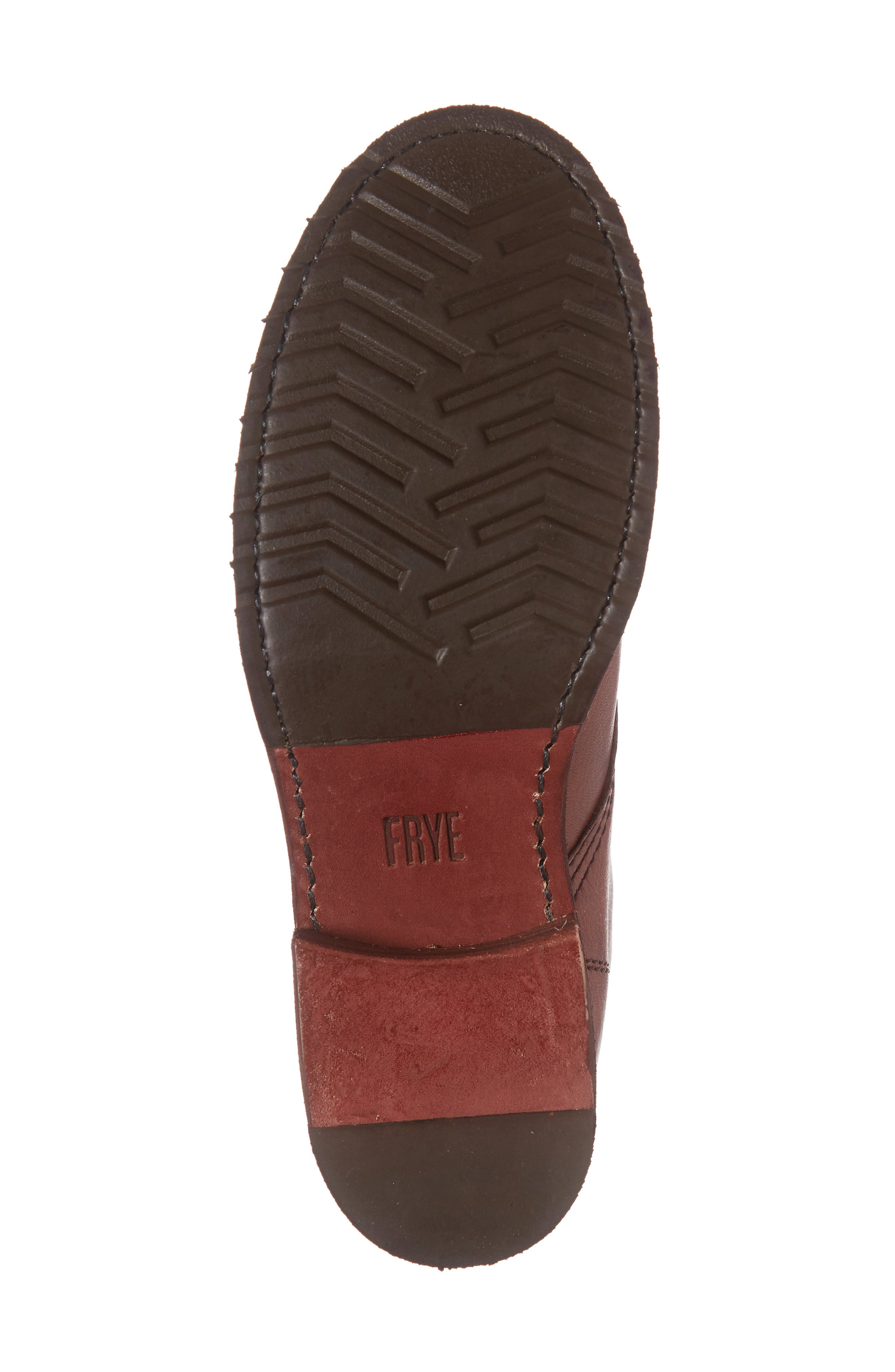 'Veronica Combat' Boot,                             Alternate thumbnail 6, color,                             Red Clay Leather