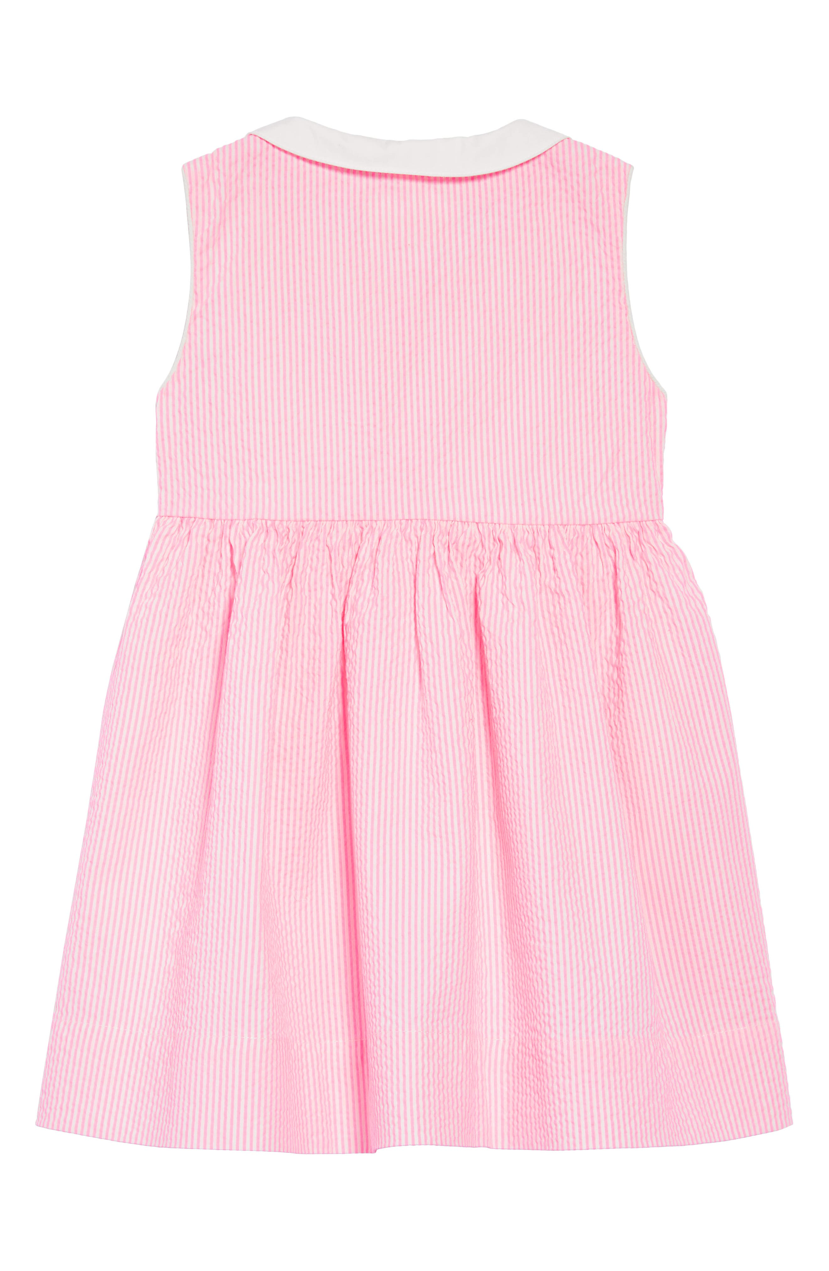 Nostalgic Collar Dress,                             Alternate thumbnail 2, color,                             Knockout Pink