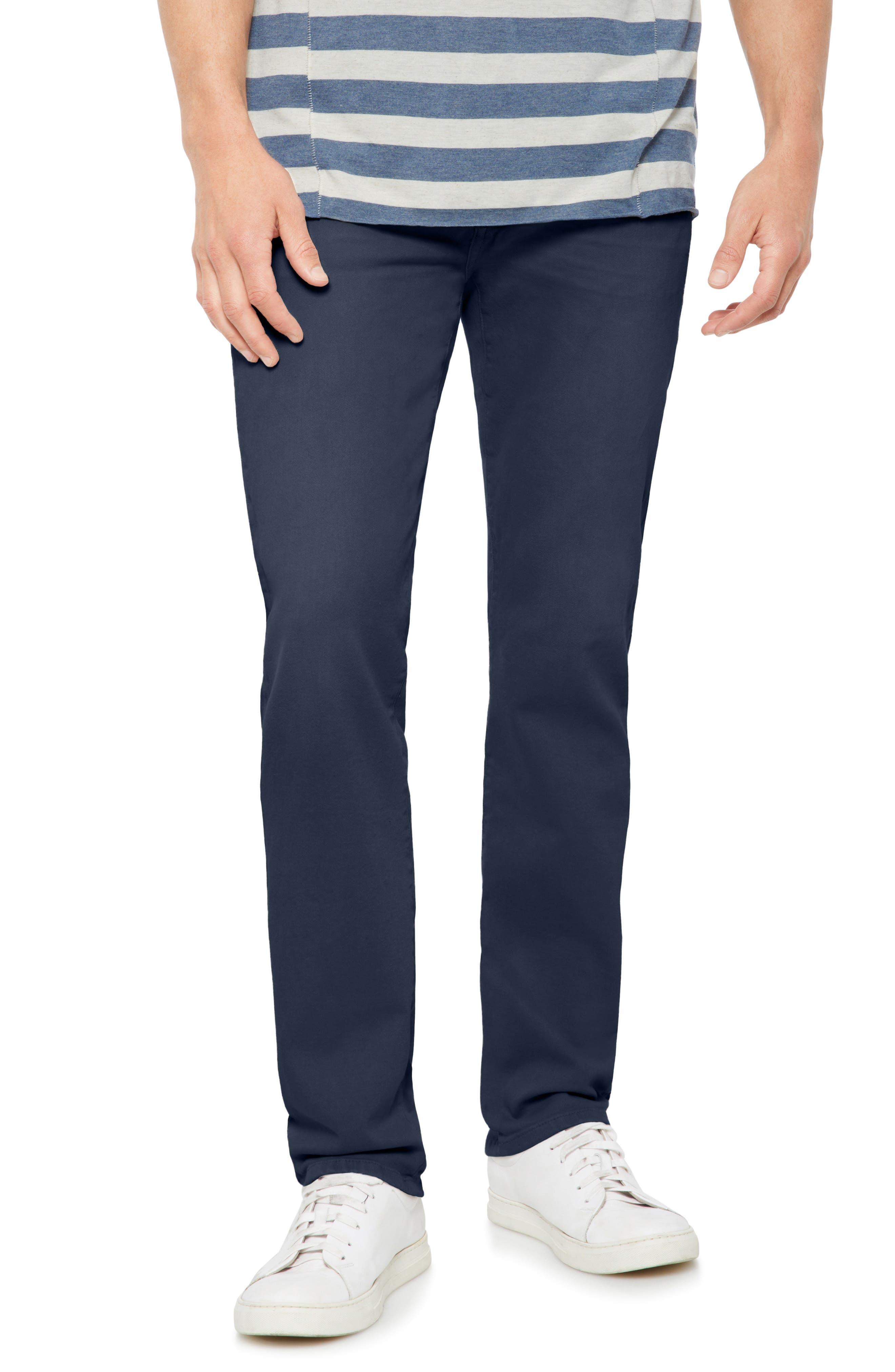 Brixton Slim Straight Leg Jeans,                             Main thumbnail 1, color,                             Navy