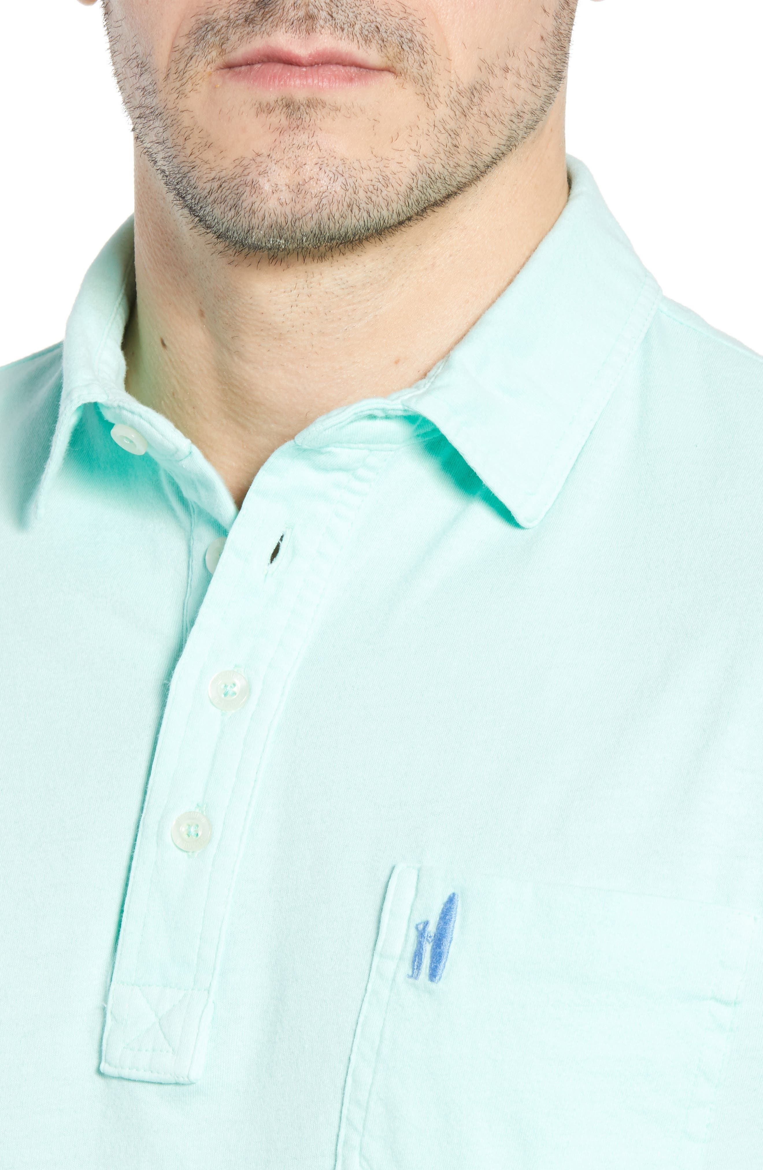 Original Regular Fit Garment Dyed Polo,                             Alternate thumbnail 4, color,                             Fern