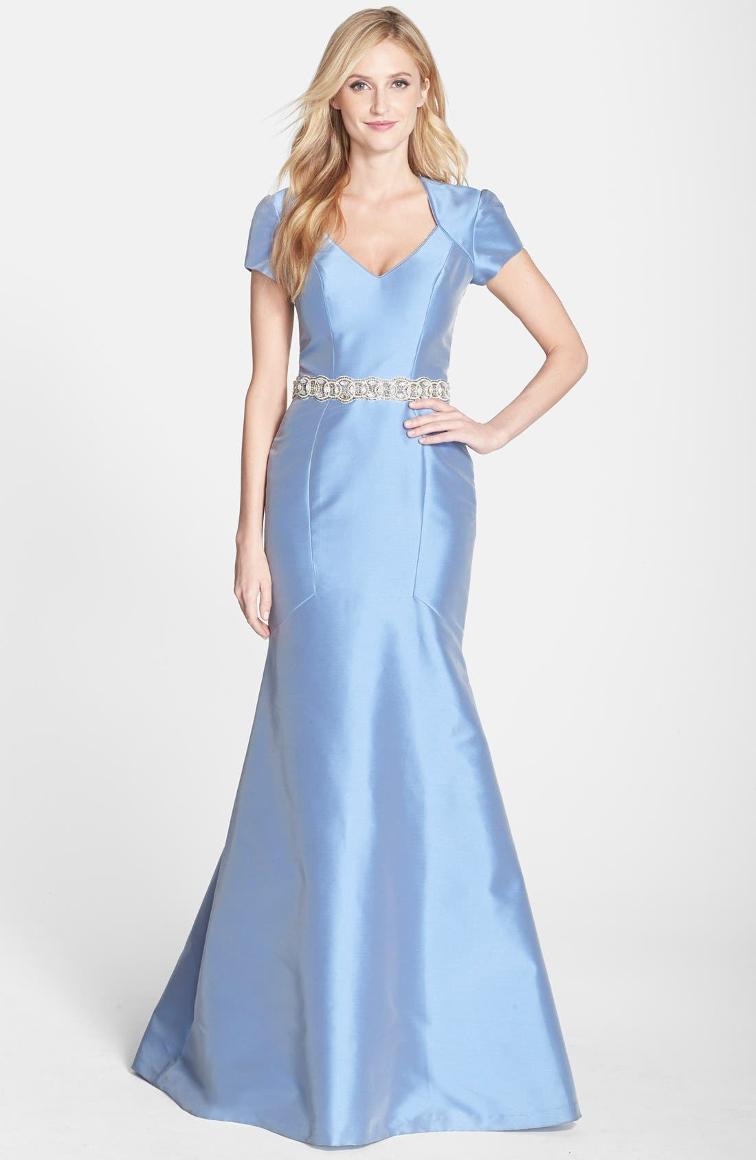 Alternate Image 1 Selected - Theia Embellished Cutout Mermaid Gown