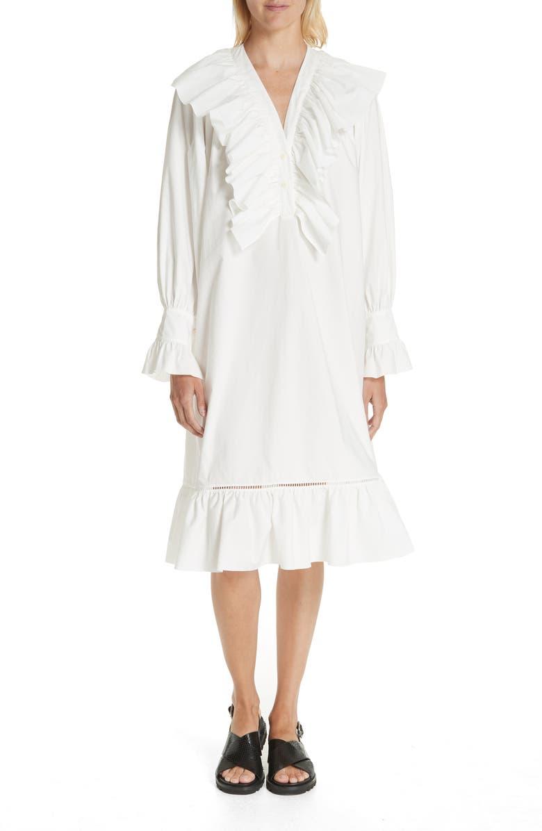 Miller Ruffle Poplin Dress