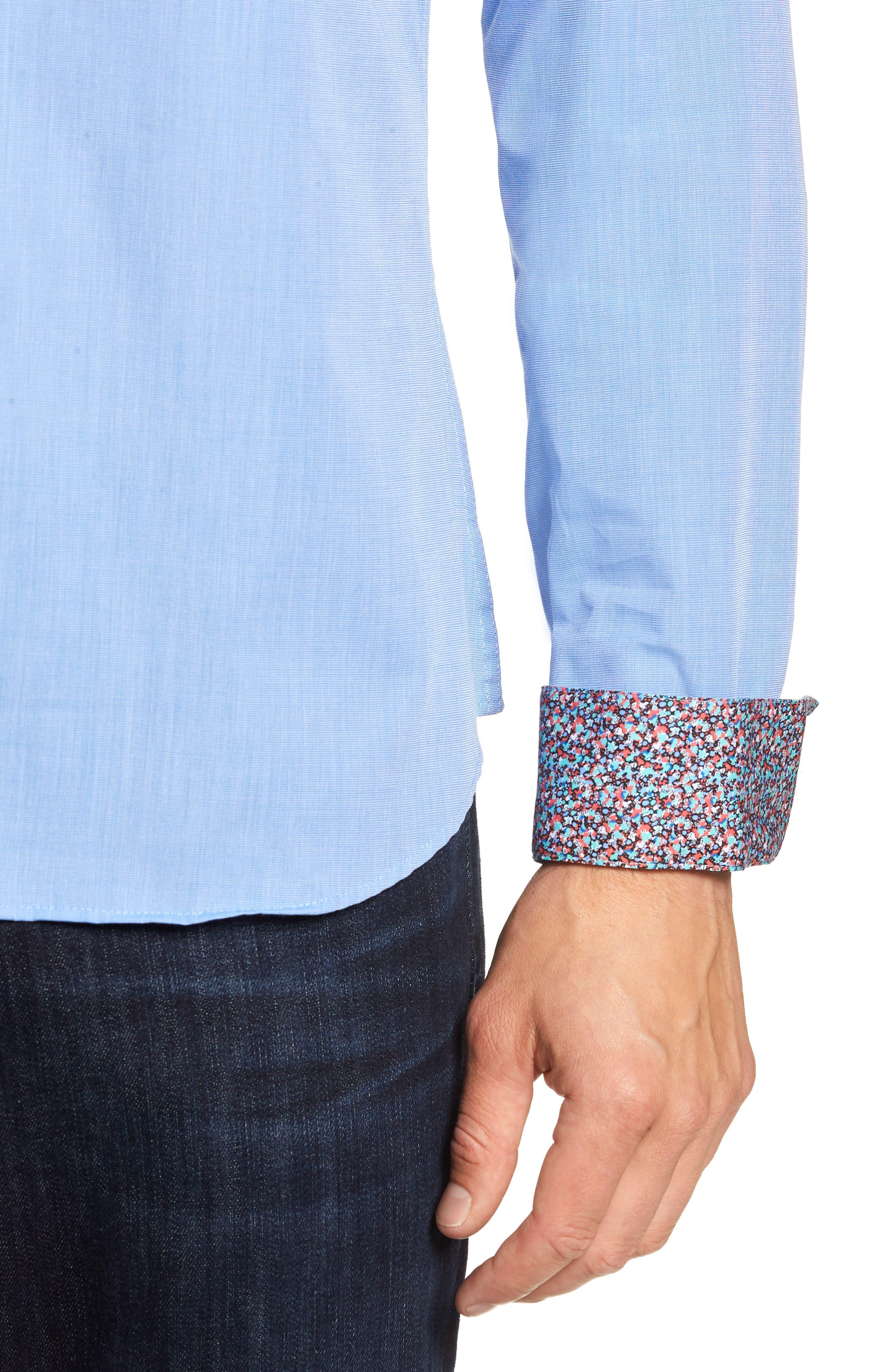 Trim Fit Sport Shirt,                             Alternate thumbnail 2, color,                             Baby Blue