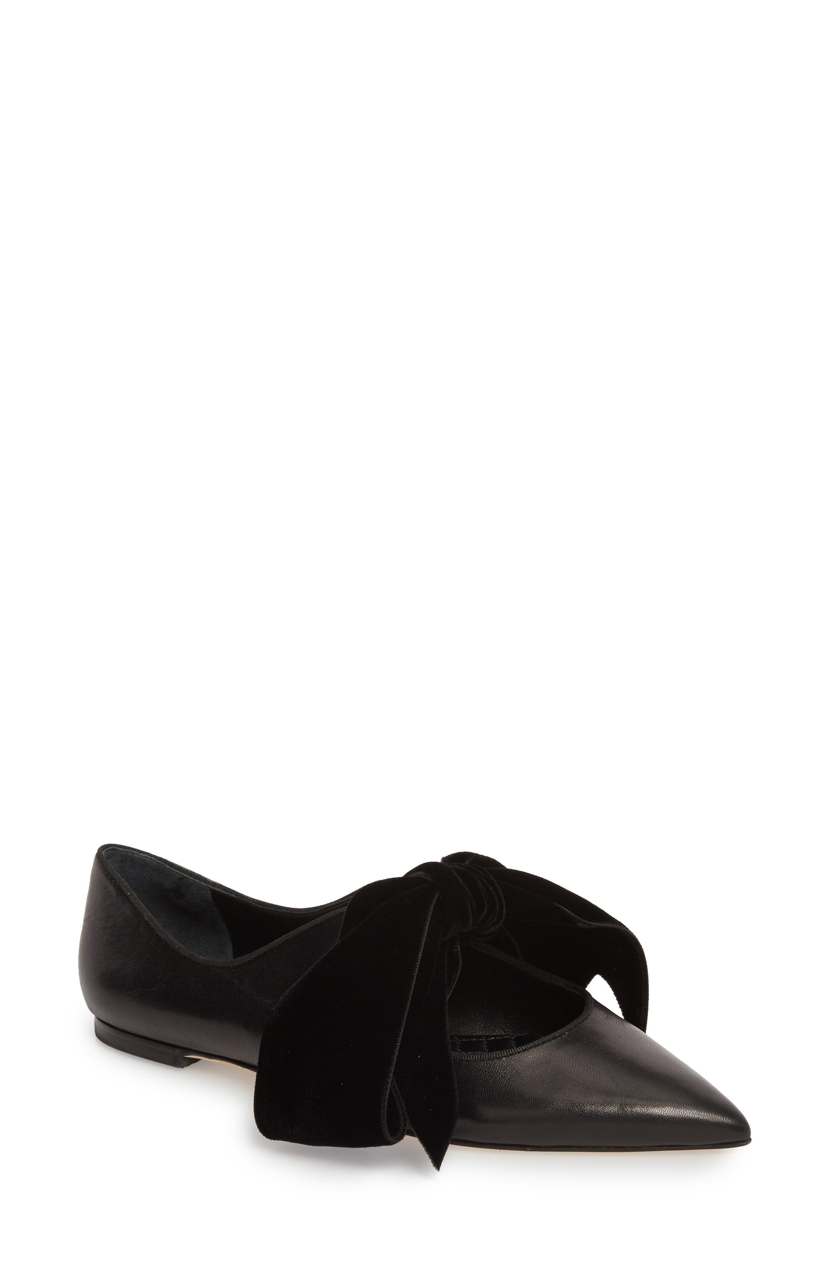 Clara Bow Flat,                             Main thumbnail 1, color,                             Perfect Black