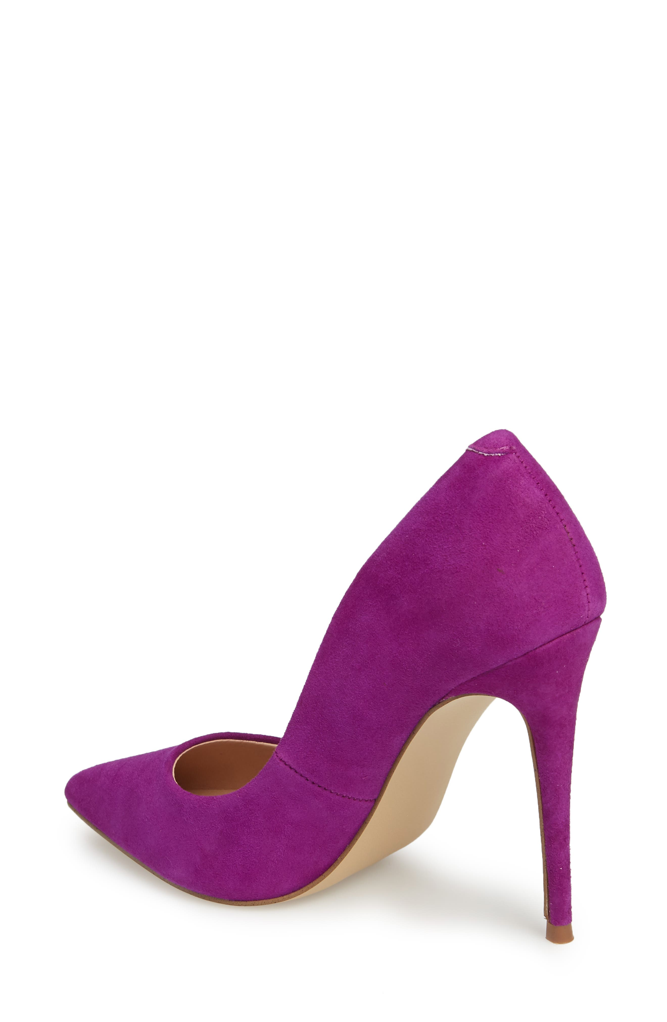 Daisie Pointy-Toe Pump,                             Alternate thumbnail 2, color,                             Purple Suede