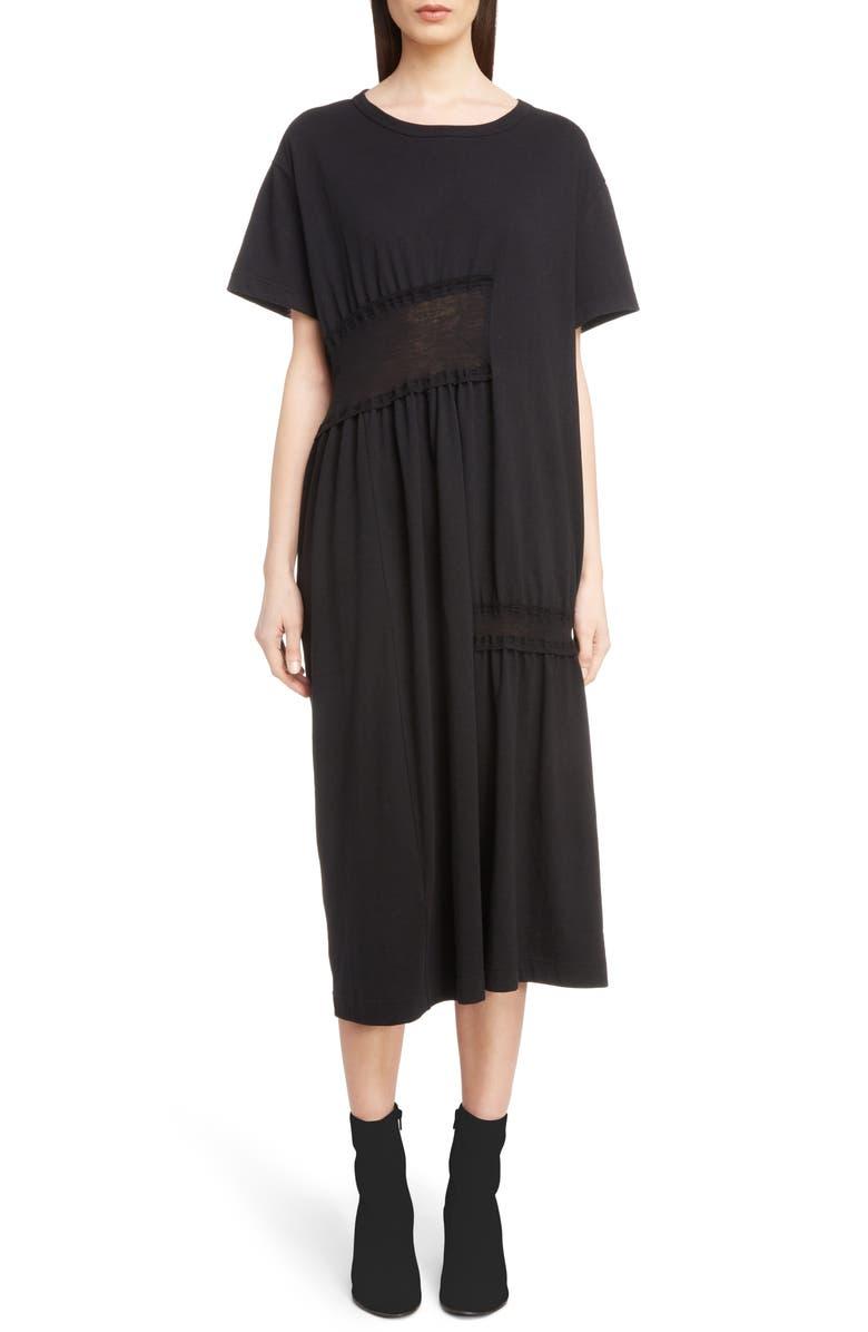 Y's GATHERED T-SHIRT DRESS