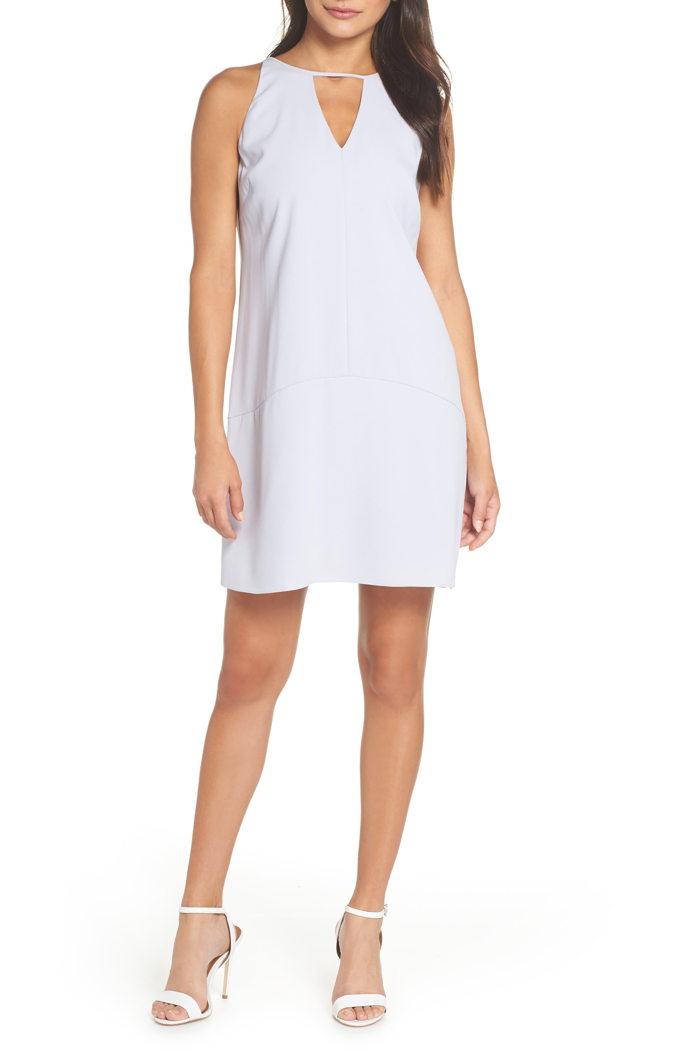 KEYHOLE SHIFT DRESS