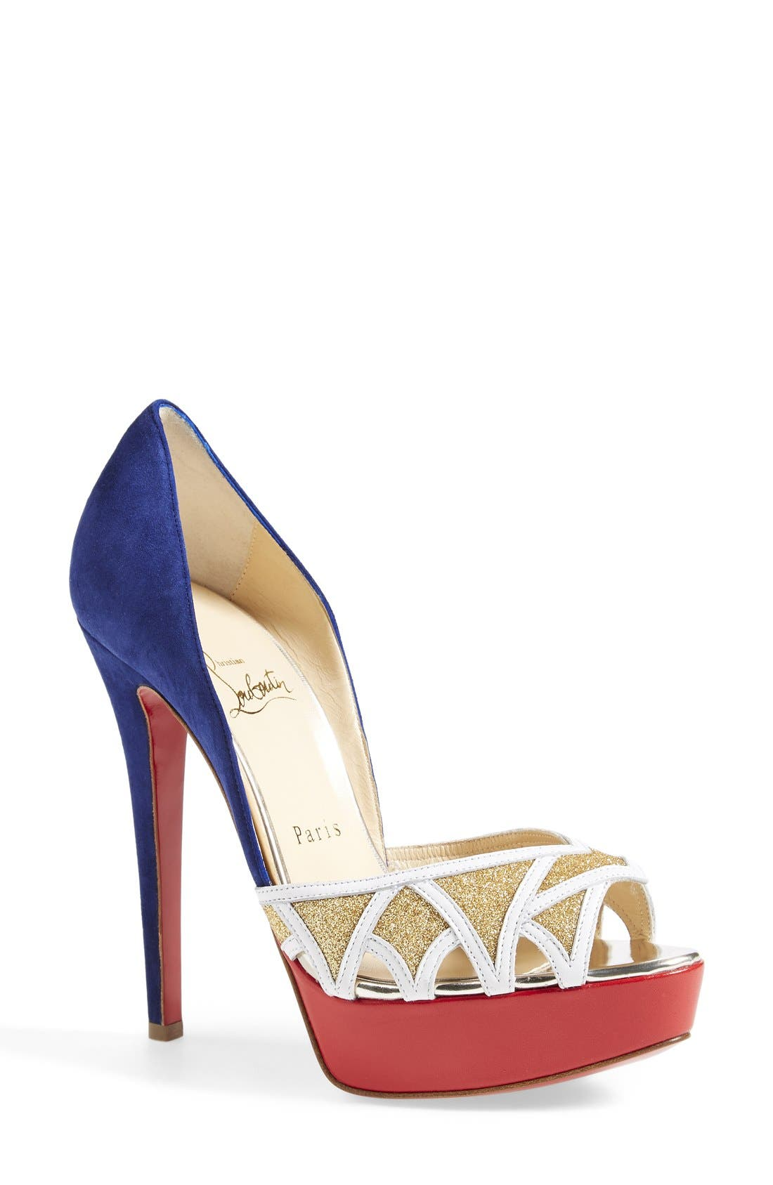 Alternate Image 1 Selected - Christian Louboutin Open Toe Pump