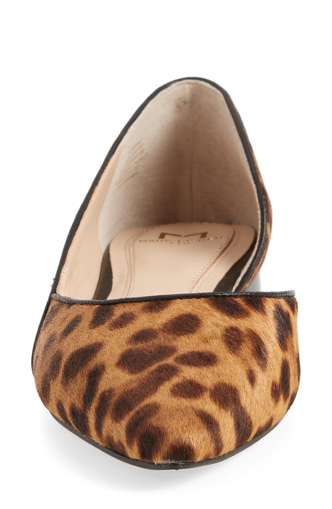 Sunny Genuine Calf Hair Flat,                             Alternate thumbnail 4, color,                             Leopard Calf Hair