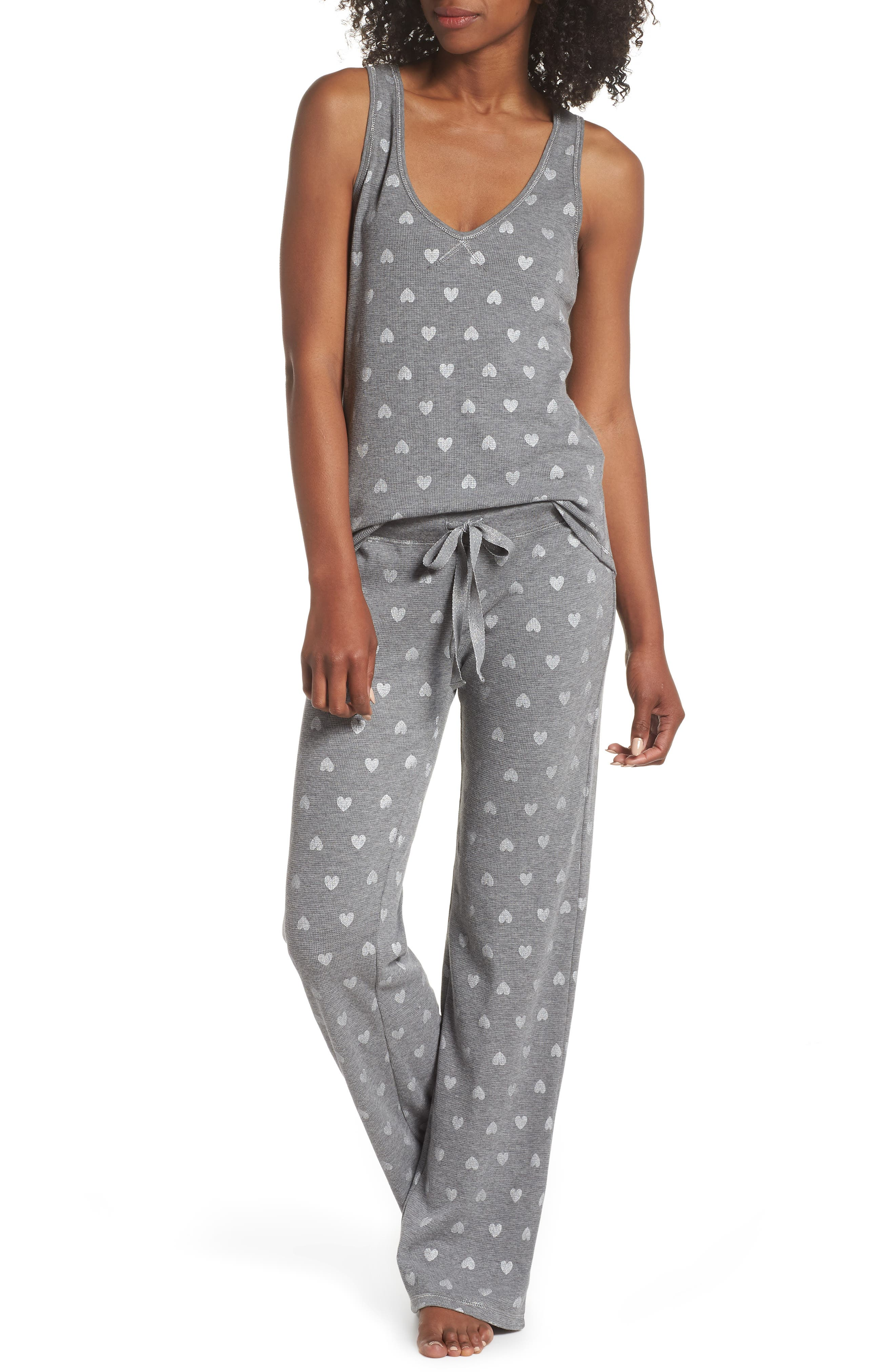 Wild Heart Thermal Lounge Pants,                             Alternate thumbnail 4, color,                             H Grey