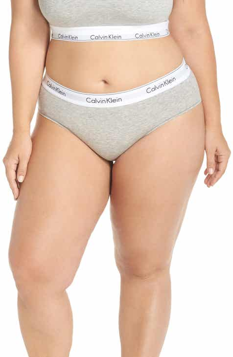 0df3307834 Calvin Klein Modern Cotton Blend Hipster Briefs (Plus Size)