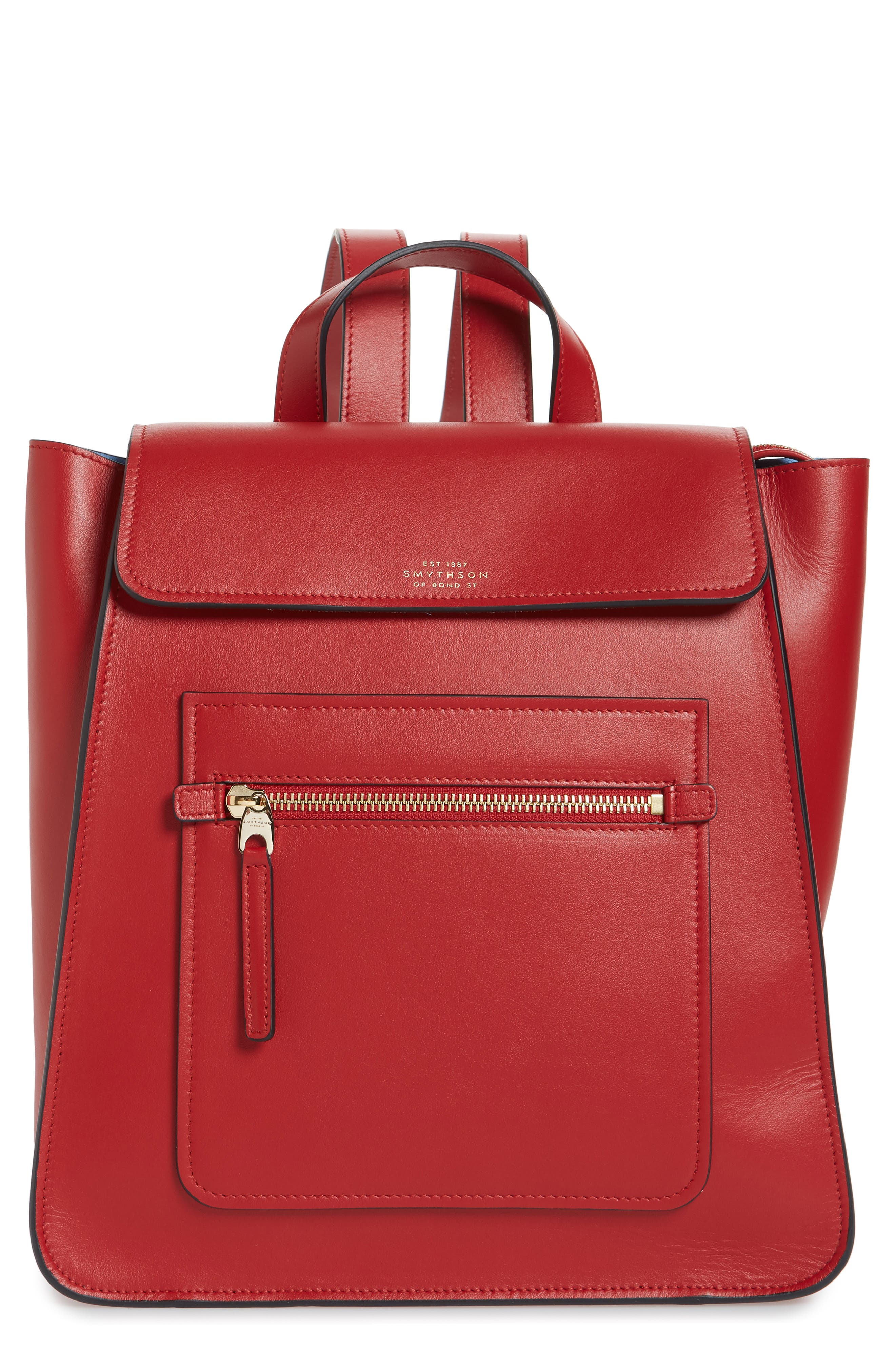HERO SMALL LEATHER BACKPACK - RED