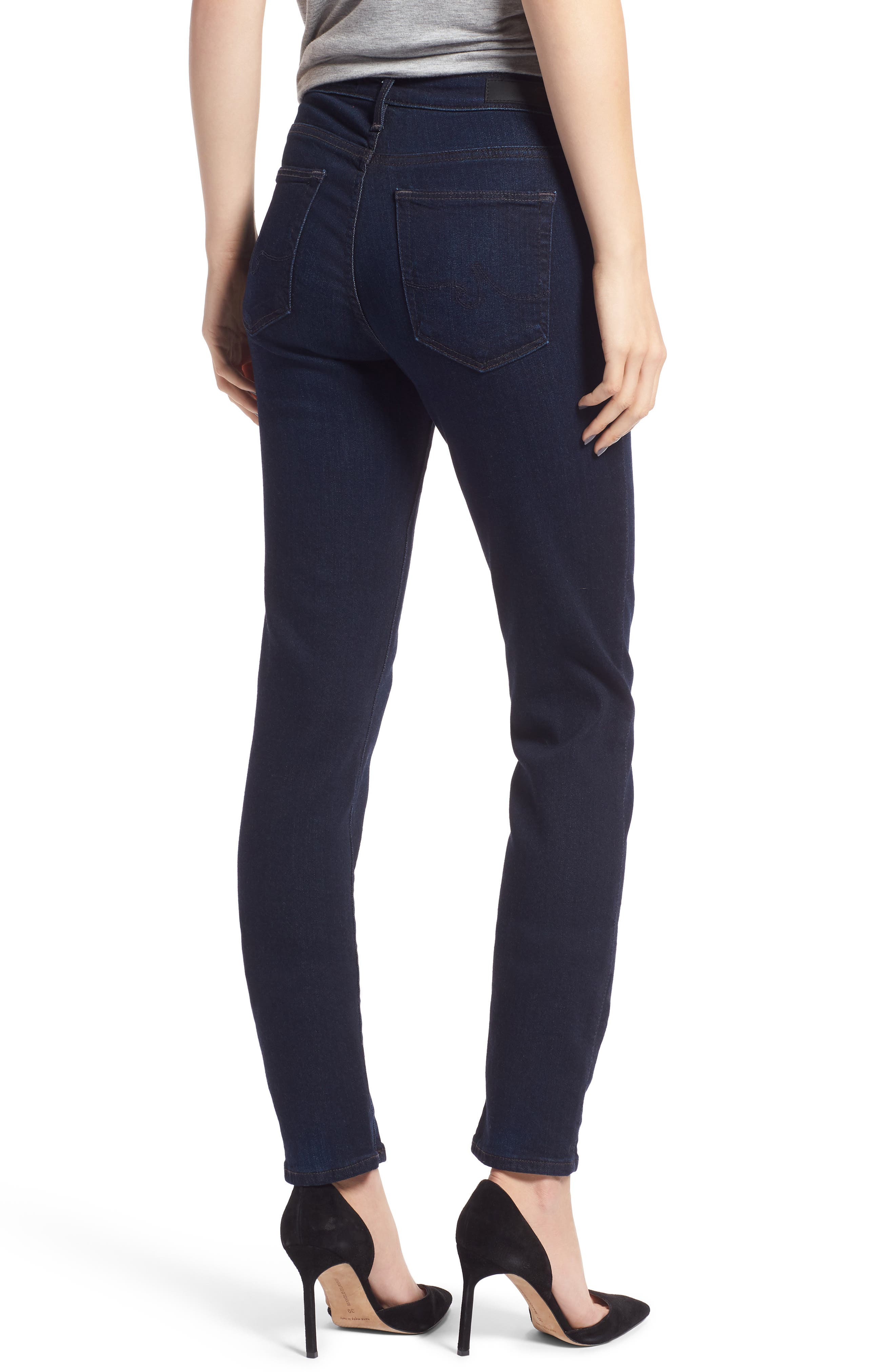 'Prima' Mid Rise Skinny Jeans,                             Alternate thumbnail 2, color,                             Glamour