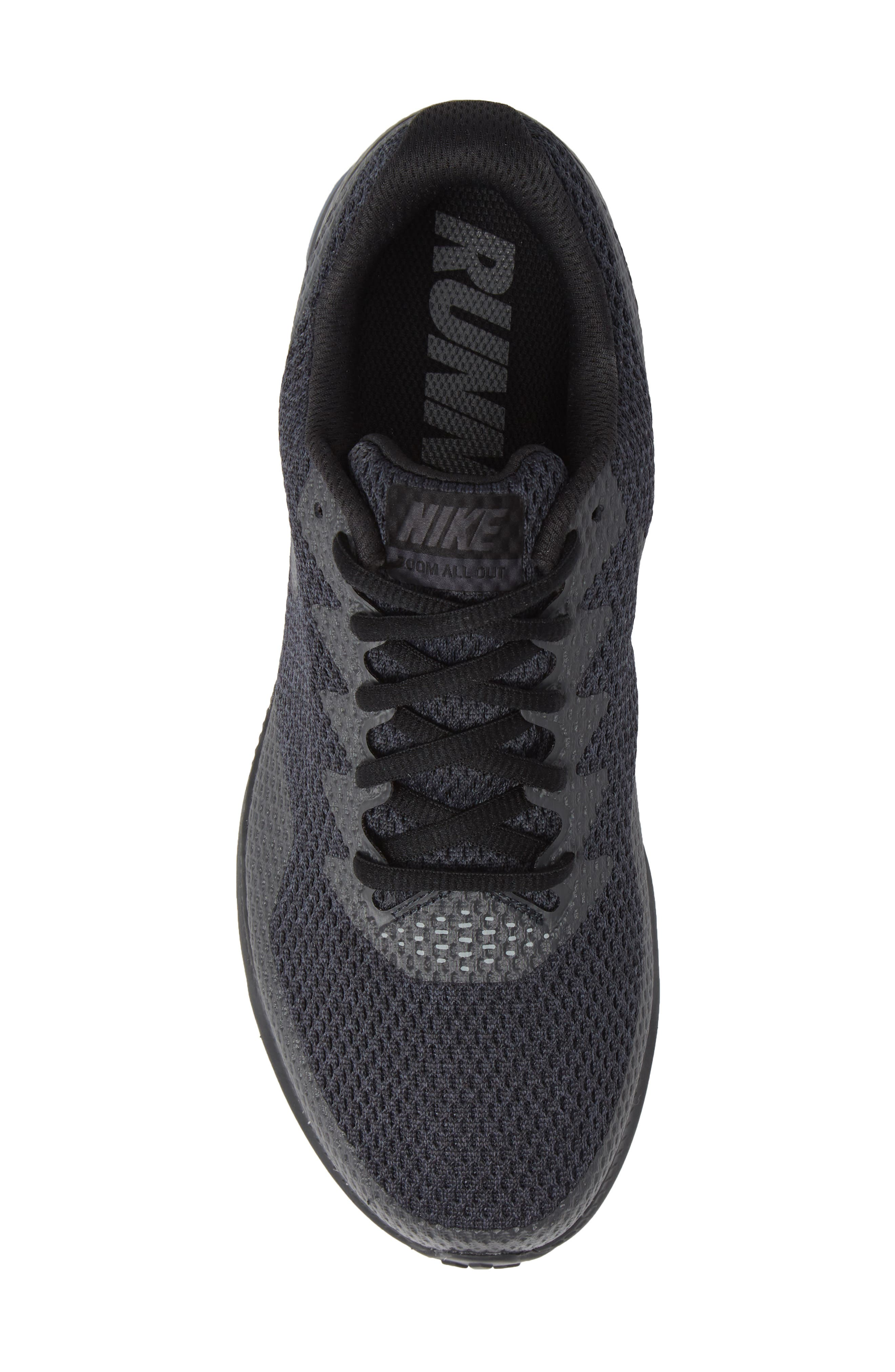 Zoom All Out Low 2 Running Shoe,                             Alternate thumbnail 6, color,                             Black/ Dark Grey/ Anthracite
