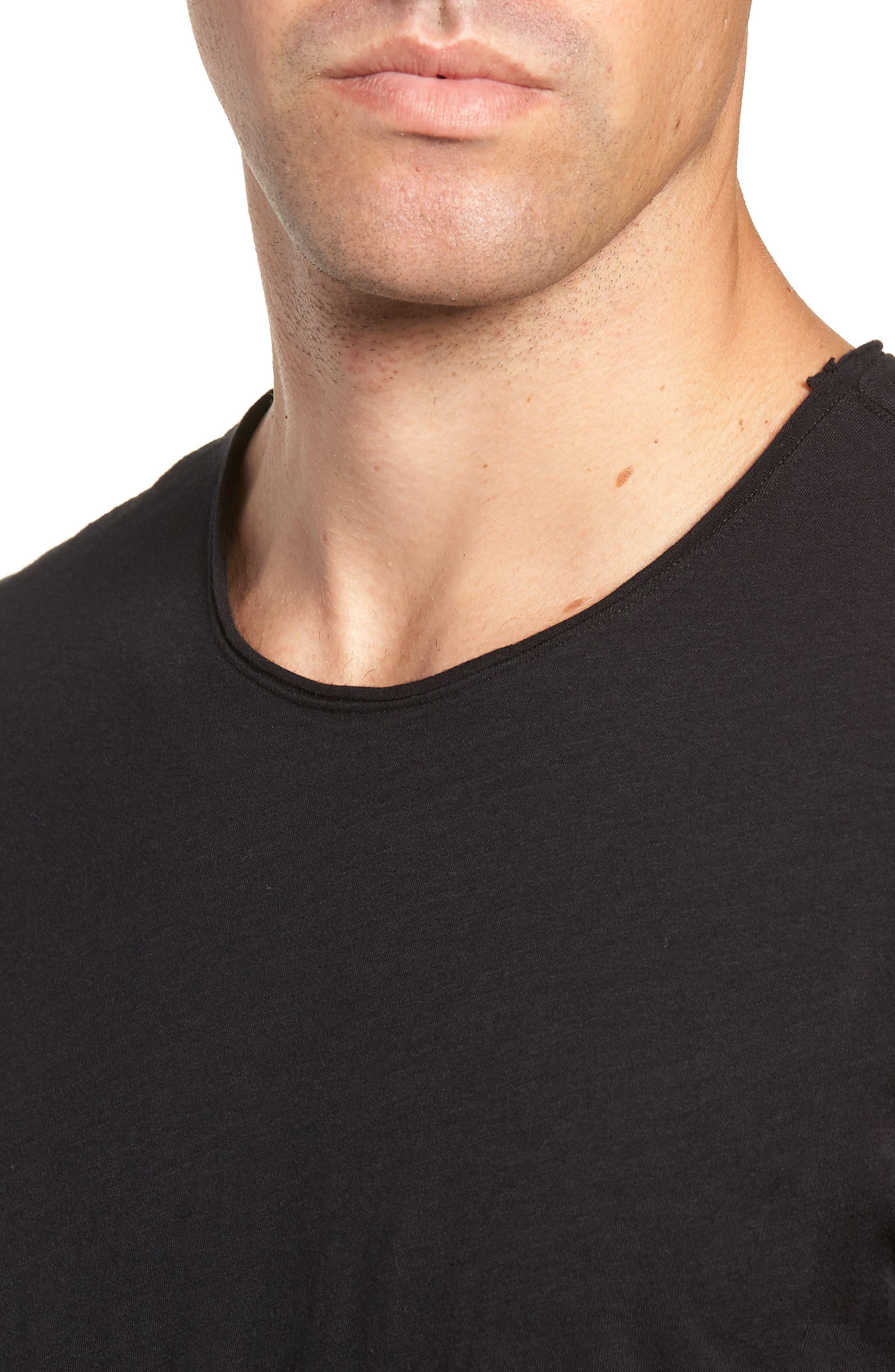 Slim Fit Crewneck T-Shirt,                             Alternate thumbnail 5, color,                             Jet Black