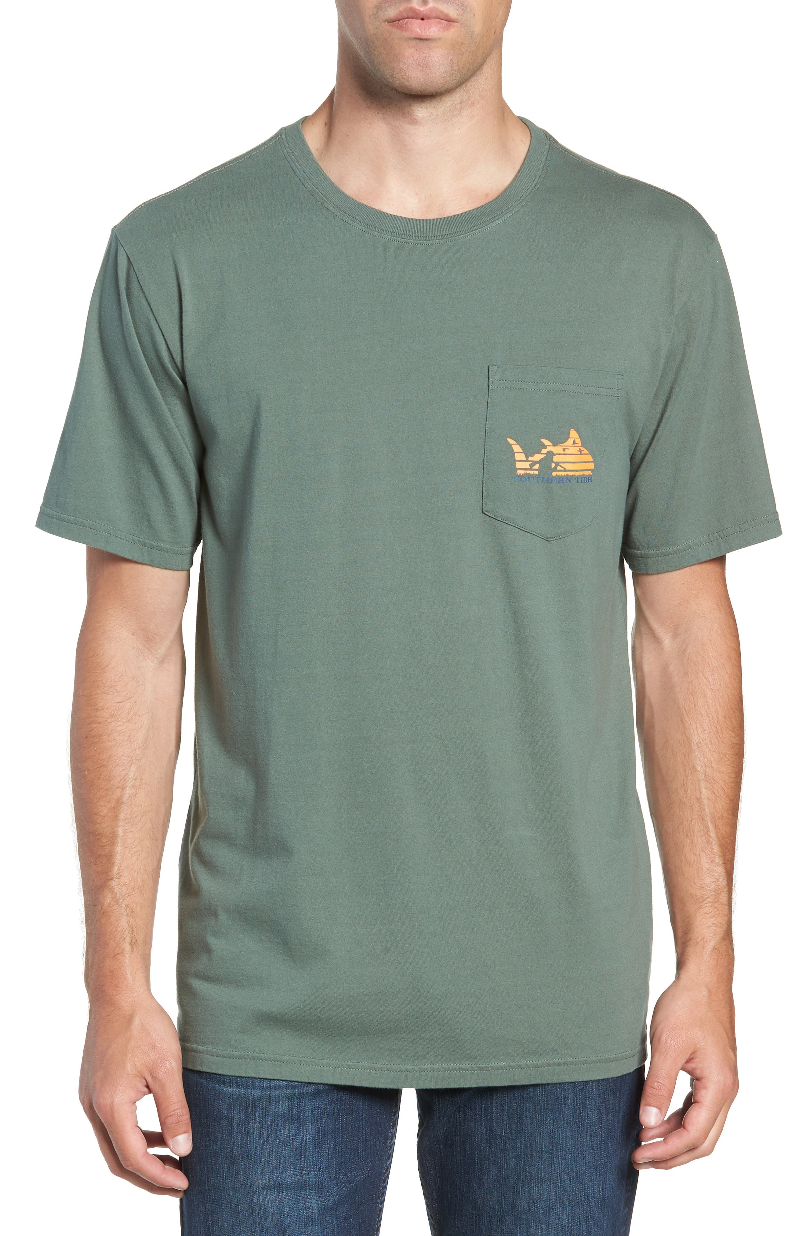SOUTHERN TIDE SUNSET GRAPHIC POCKET T-SHIRT