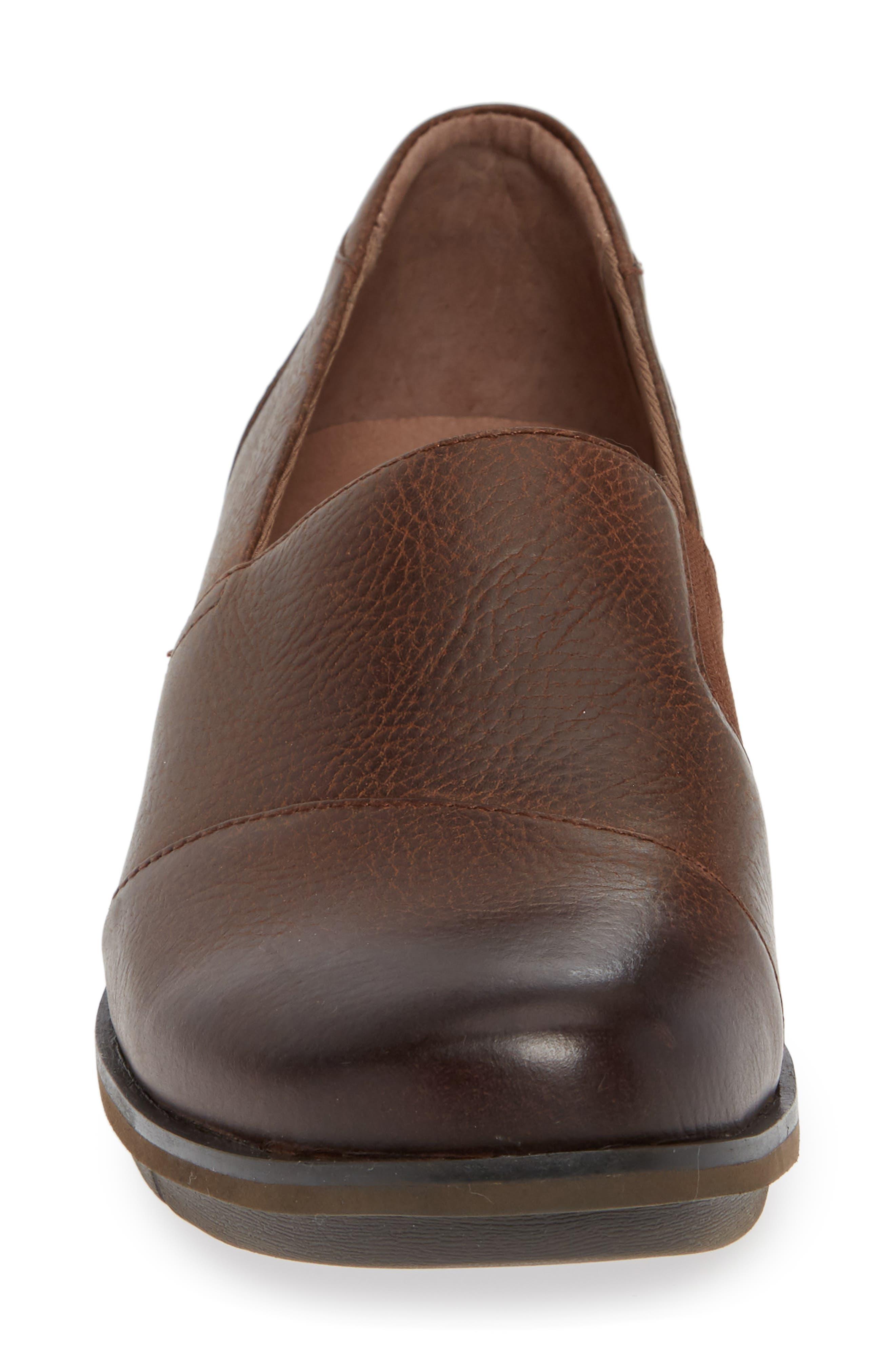 Dankso Julia Wedge Slip-On,                             Alternate thumbnail 3, color,                             Brown Burnished Nubuck Leather