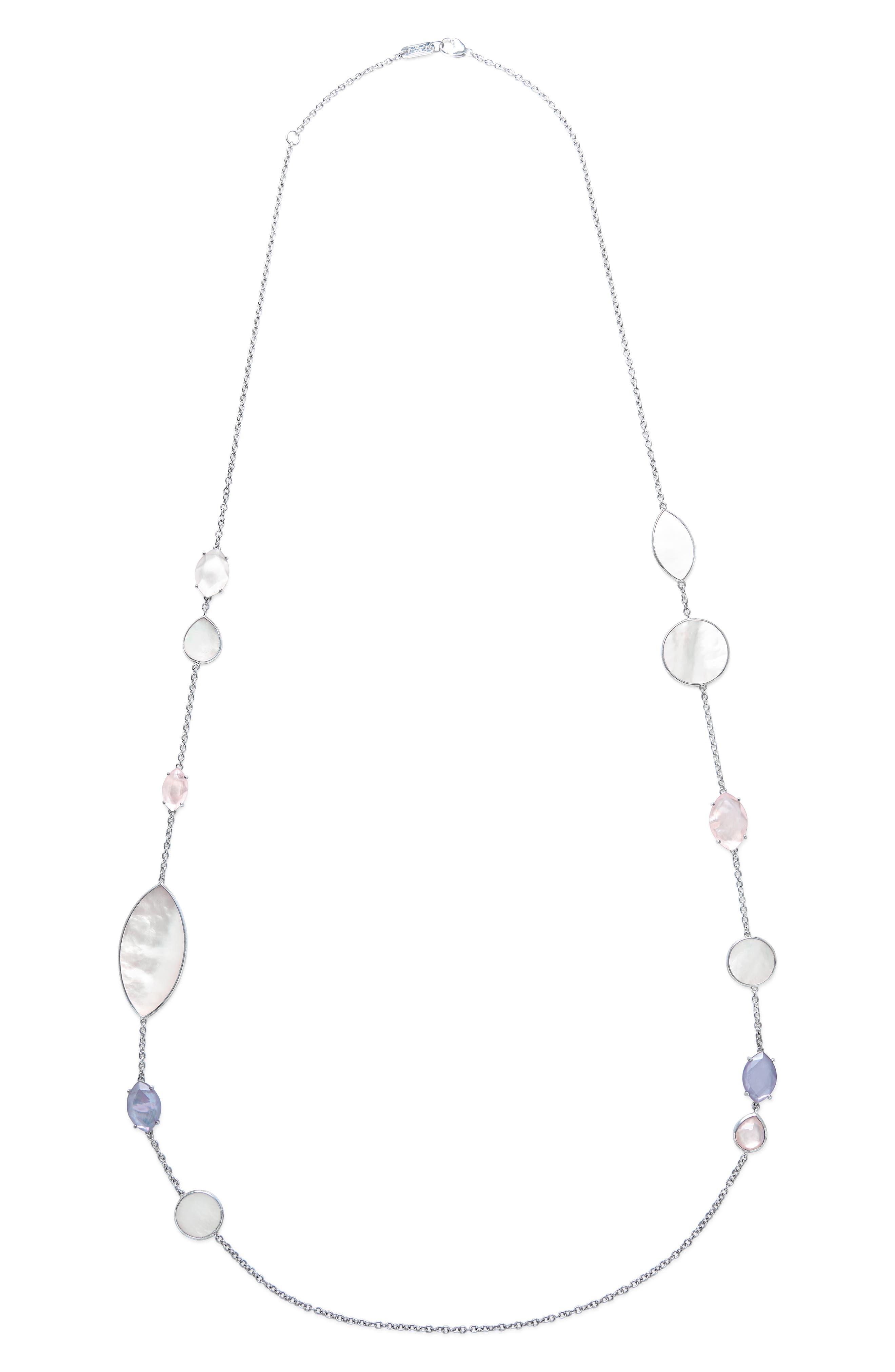 Wonderland Long Marquise Stone Necklace,                             Main thumbnail 1, color,                             Primrose