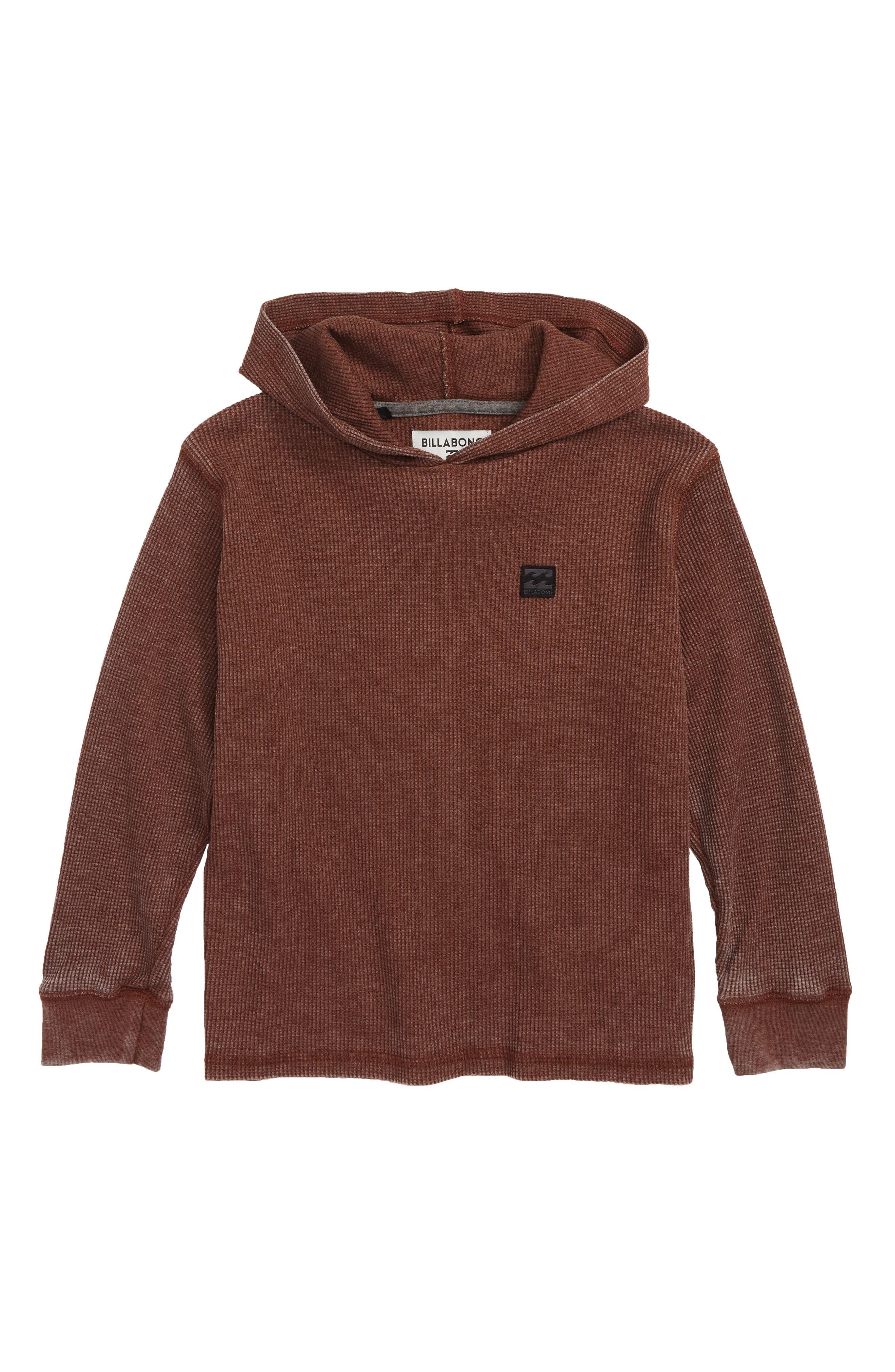 Keystone Thermal Pullover Hoodie,                         Main,                         color, Rust Brown