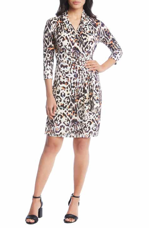 cccd8bb9f75 Karen Kane Cascade Faux Wrap Dress