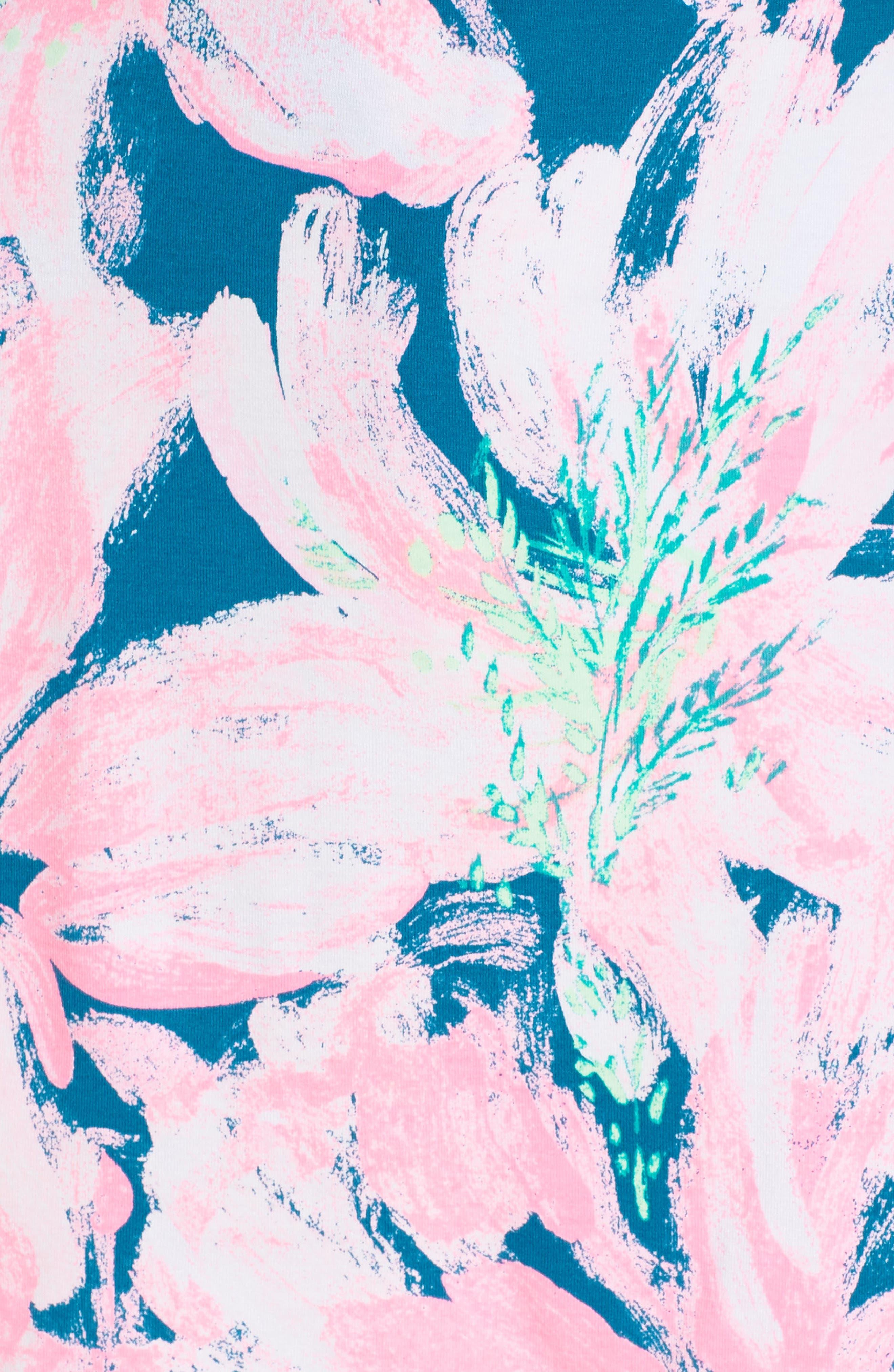 Karlie Wrap Romper,                             Alternate thumbnail 4, color,                             Tidal Wave Pans Garden