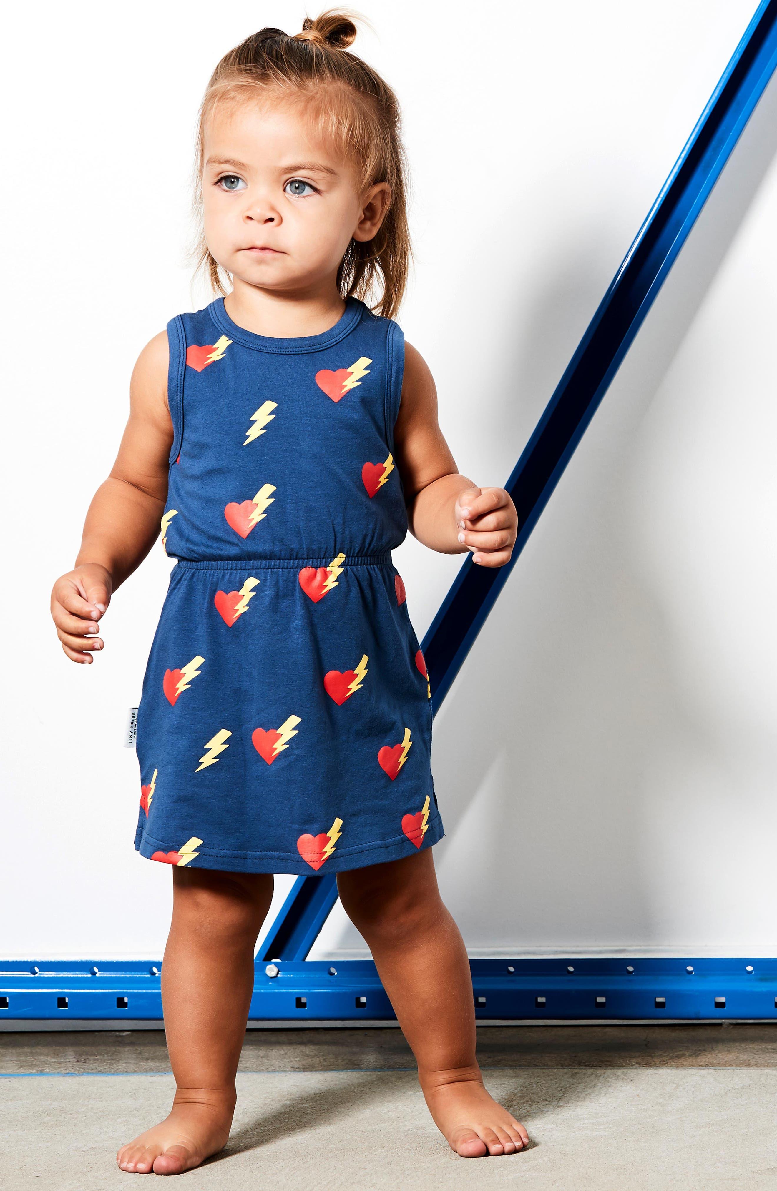 Girl Almighty Racerback Dress,                             Alternate thumbnail 3, color,                             Navy