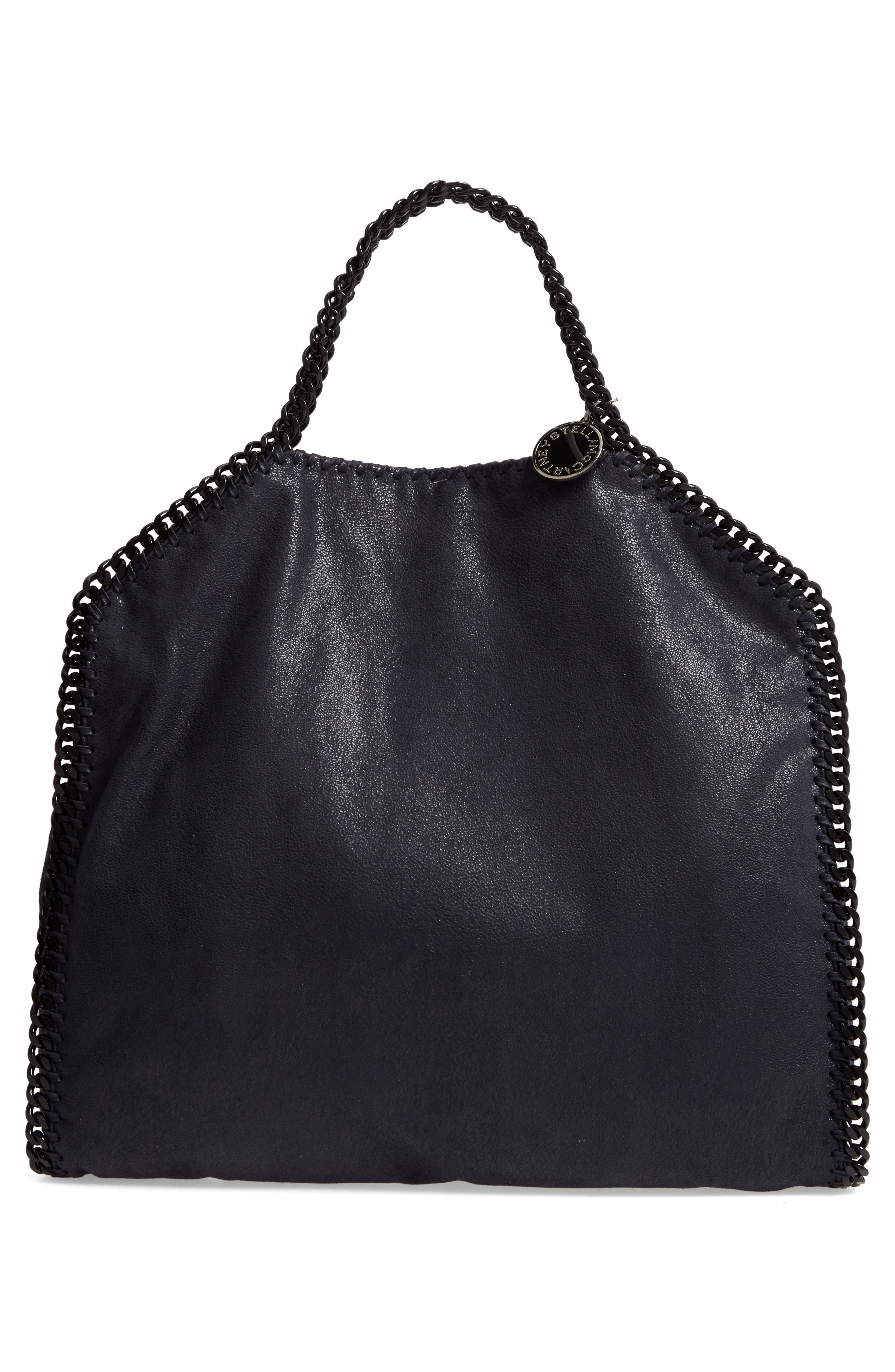 Falabella Shaggy Deer Faux Leather Tote,                             Alternate thumbnail 3, color,                             Navy