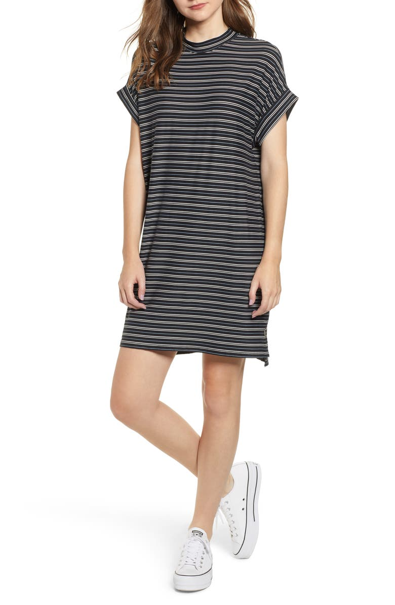 Stripe Sneaker Dress,                         Main,                         color, Black/ Blue