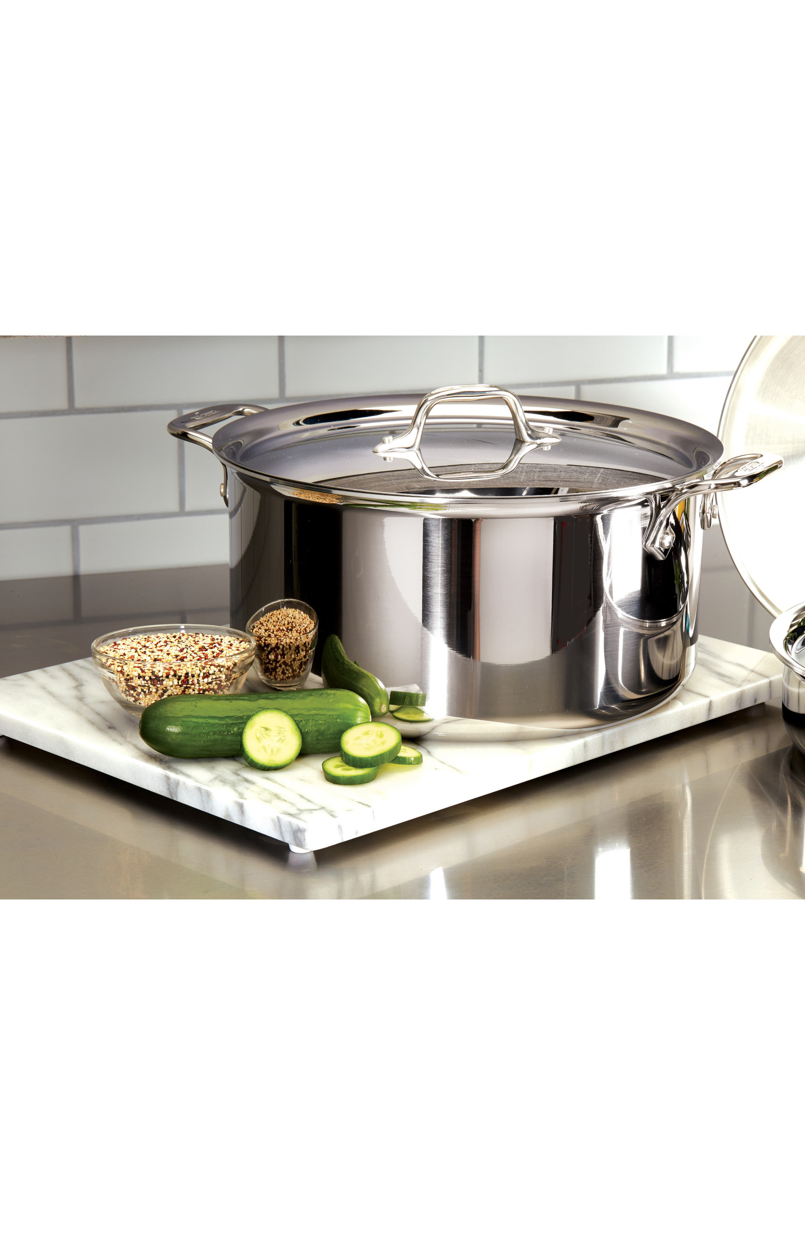 8-Quart Stainless Steel Stockpot,                             Alternate thumbnail 2, color,                             Silver