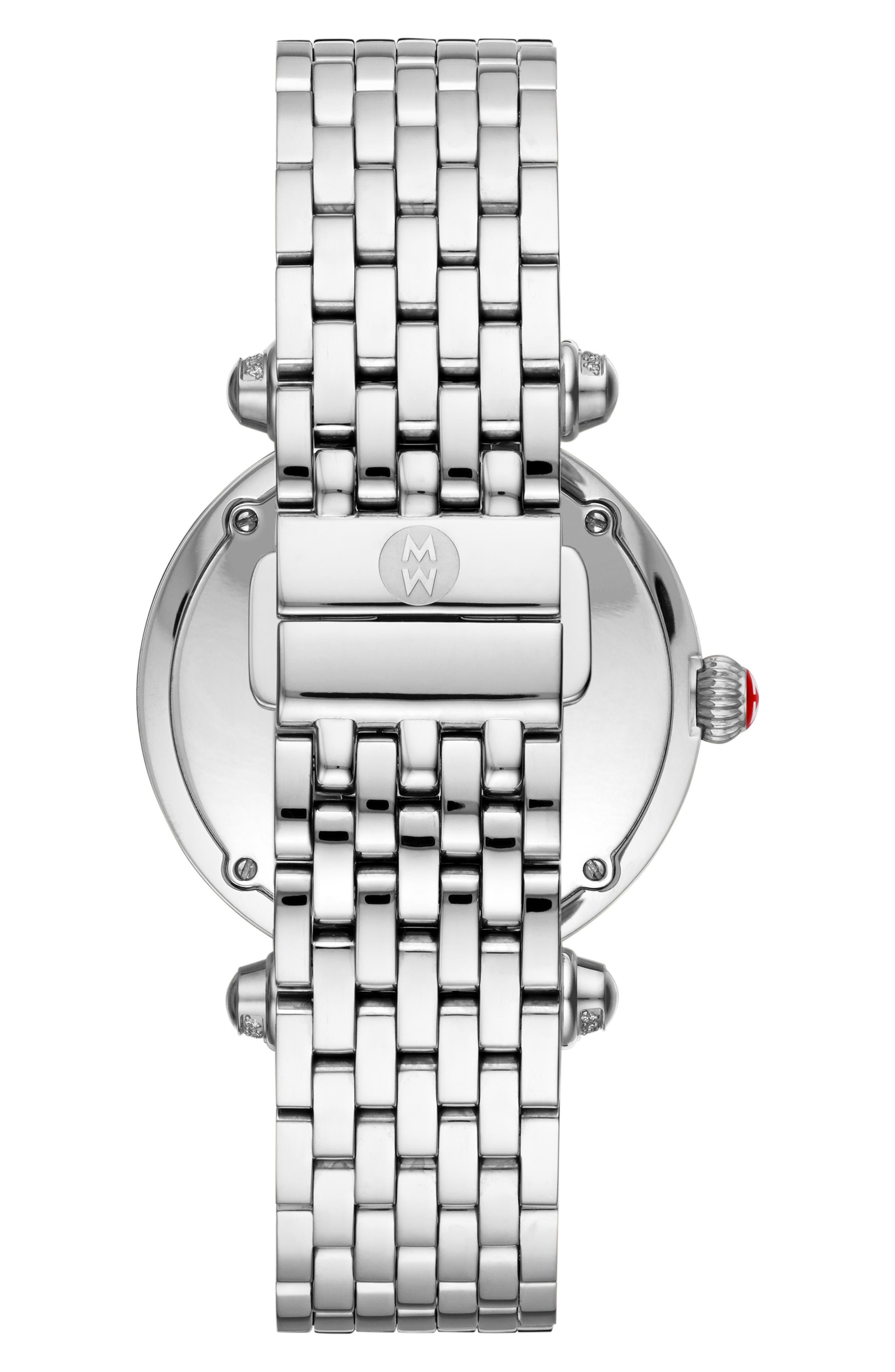 Caber Diamond Bracelet Watch, 35mm,                             Alternate thumbnail 2, color,                             Silver/ Mop/ Silver