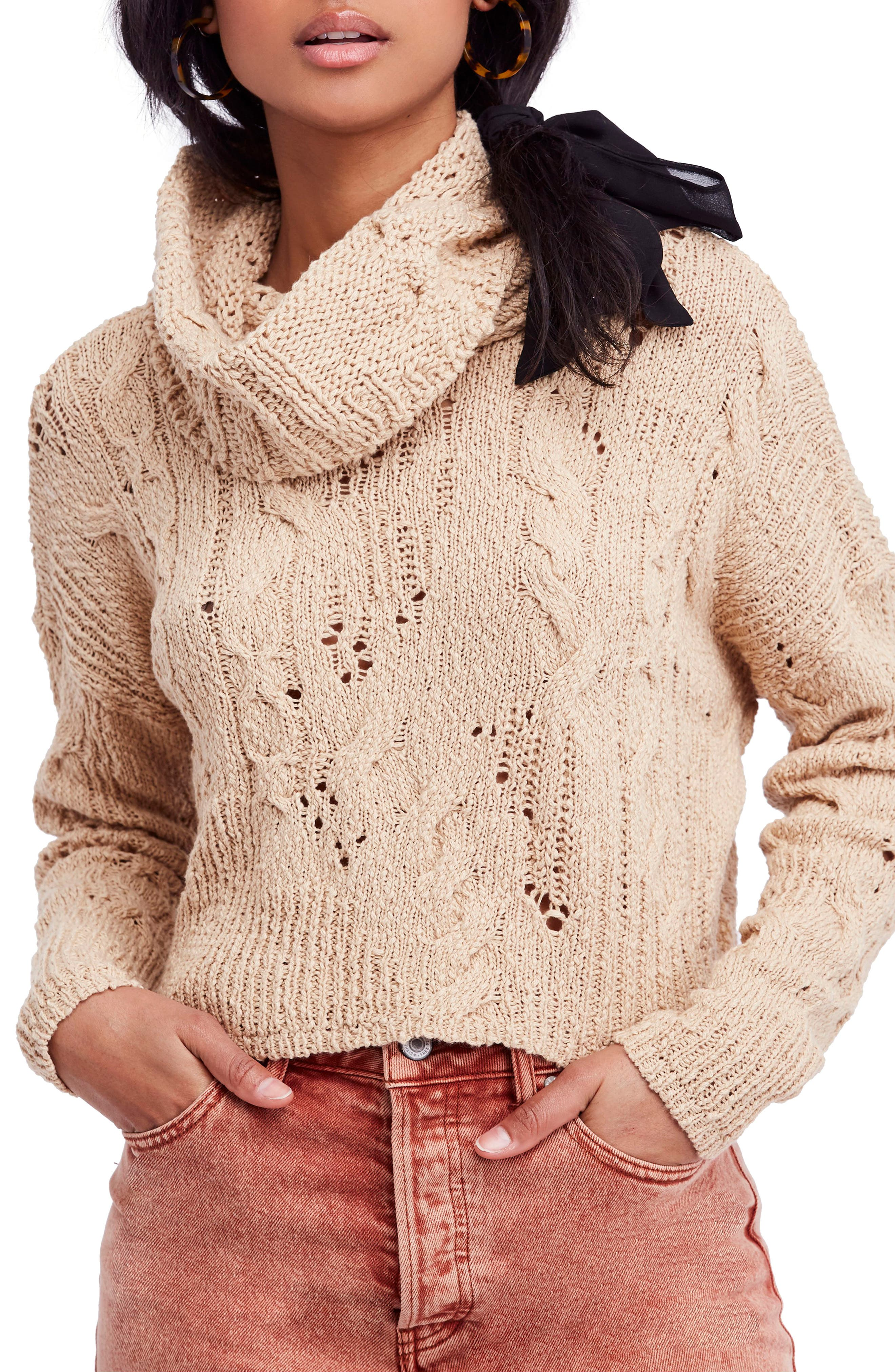 Shades Of Dawn Crop Sweater, Ivory