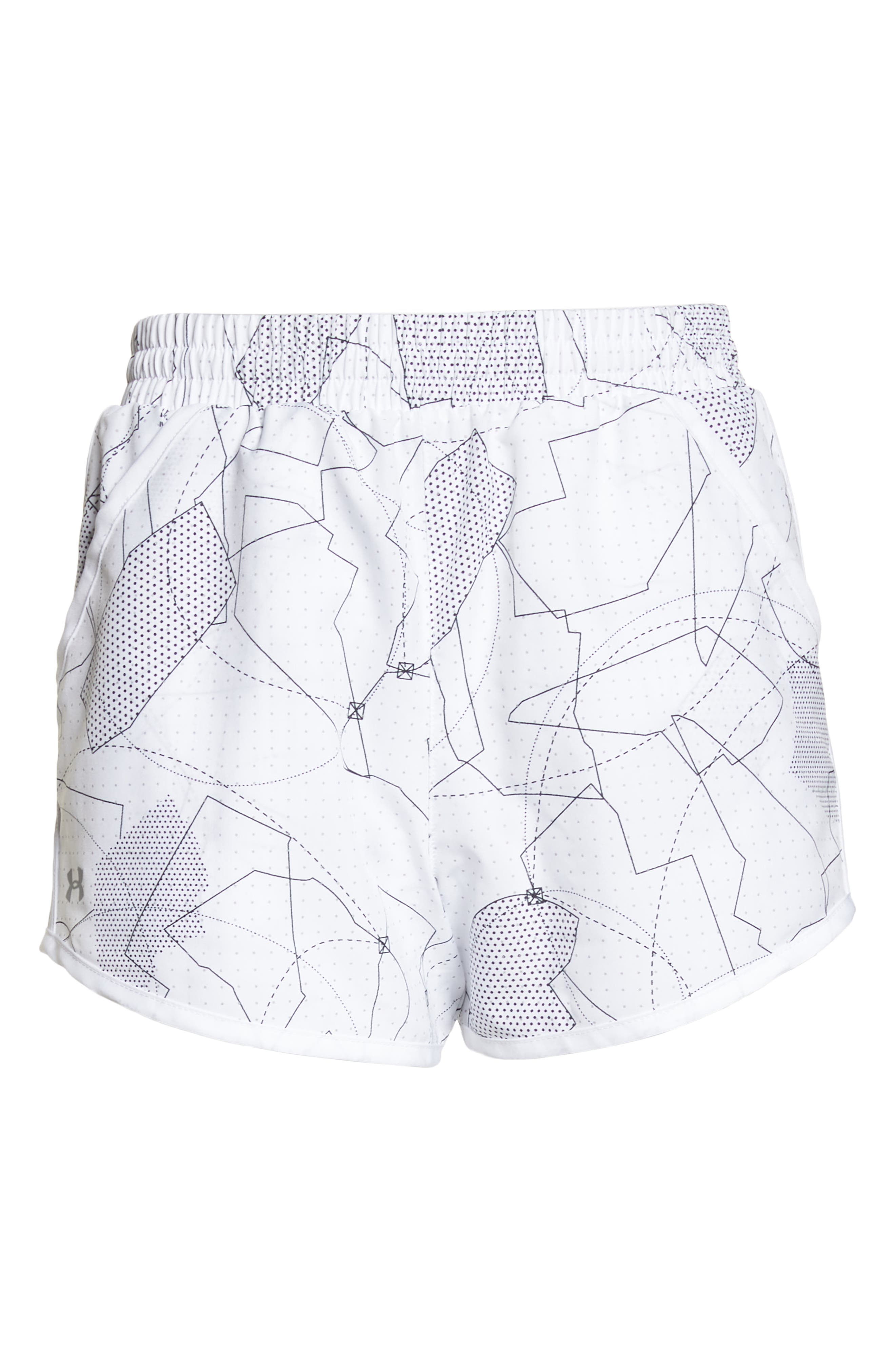 Fly-By Print Shorts,                             Alternate thumbnail 7, color,                             White/ White/ Reflective