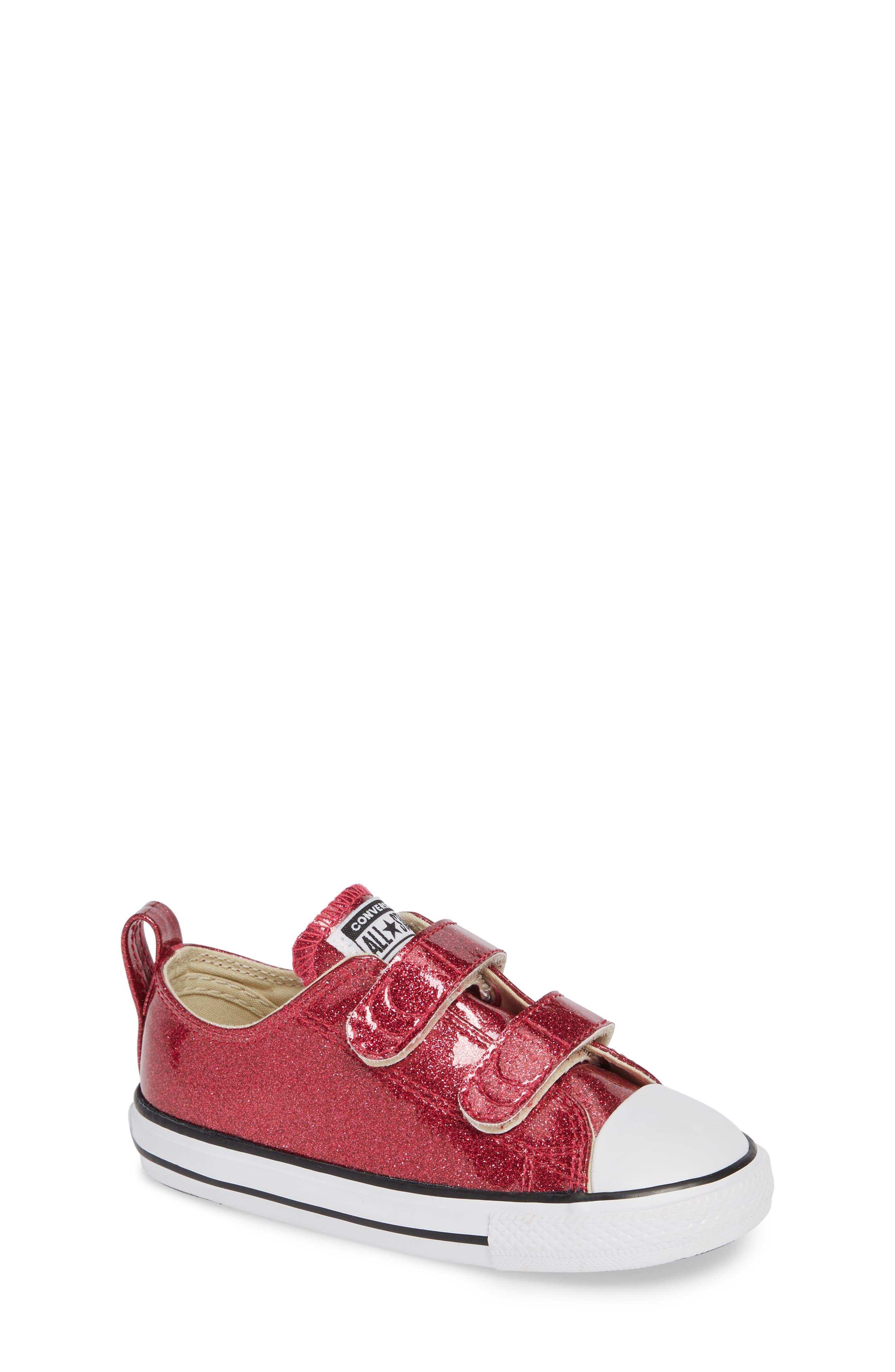 All Star<sup>®</sup> Seasonal Glitter Sneaker,                         Main,                         color, Pink Pop