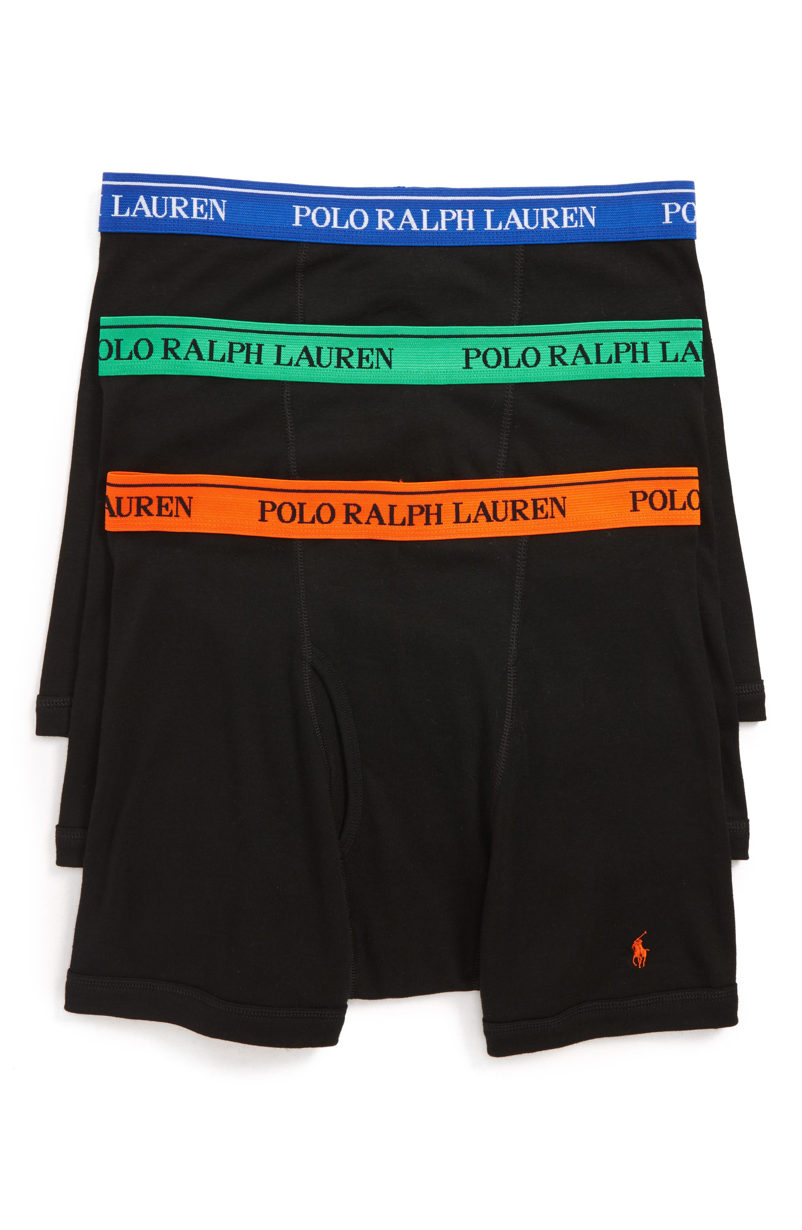 Polo Ralph Lauren 3-Pack Classic Fit Cotton Boxer Briefs