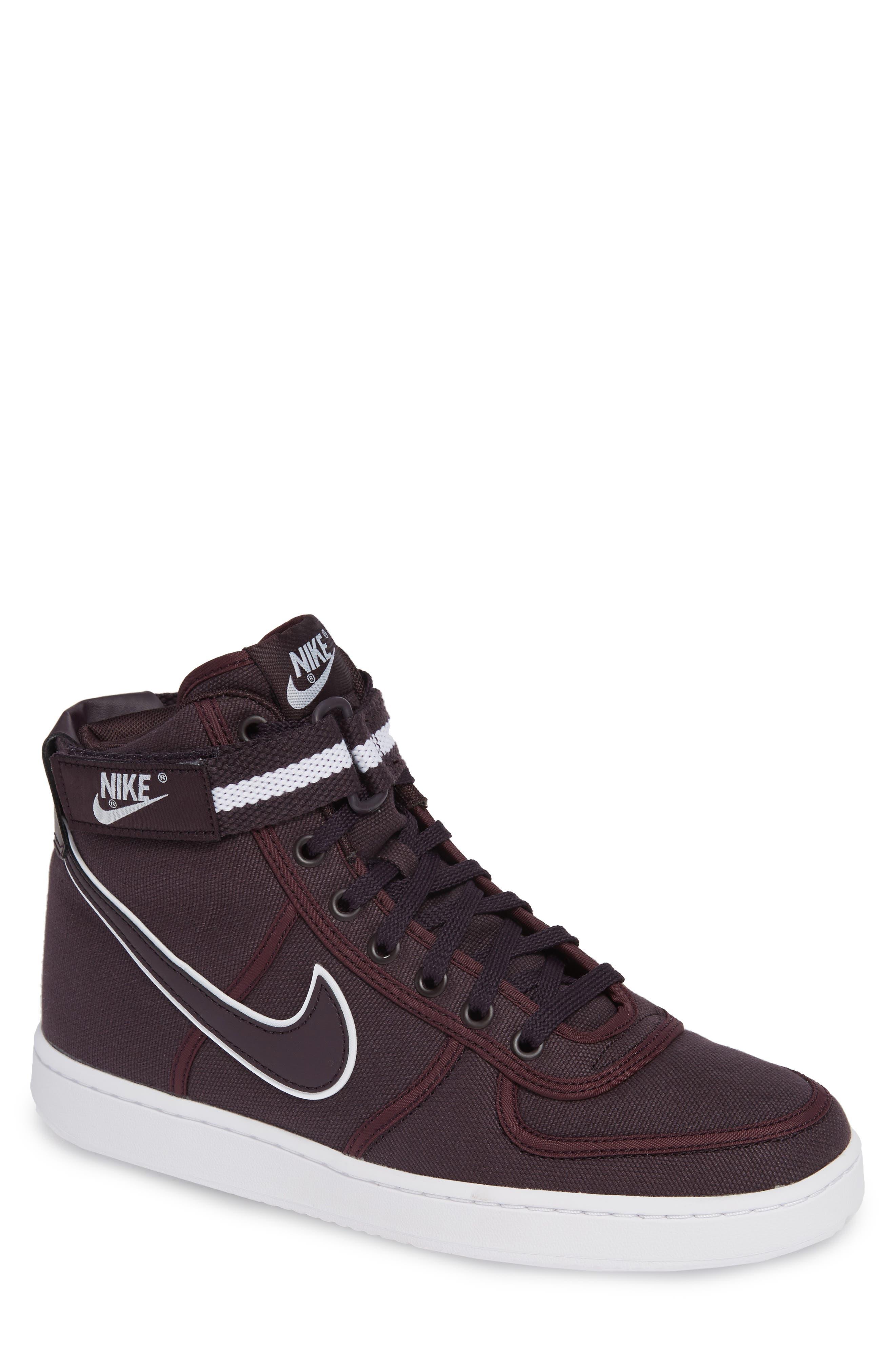 Vandal High Supreme High Top Sneaker,                             Main thumbnail 1, color,                             Burgundy Ash/ White