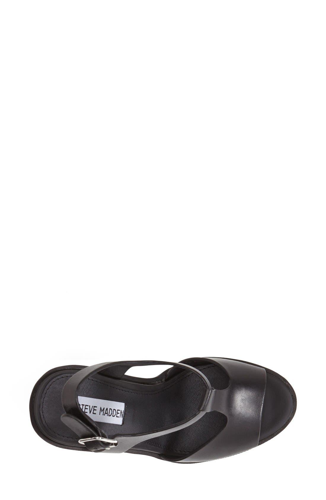 Alternate Image 3  - Steve Madden 'Girltalk' Leather Platform Sandal (Women)