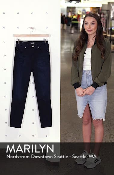 Transcend - Margot High Waist Crop Skinny Jeans,                             Alternate thumbnail 4, color,