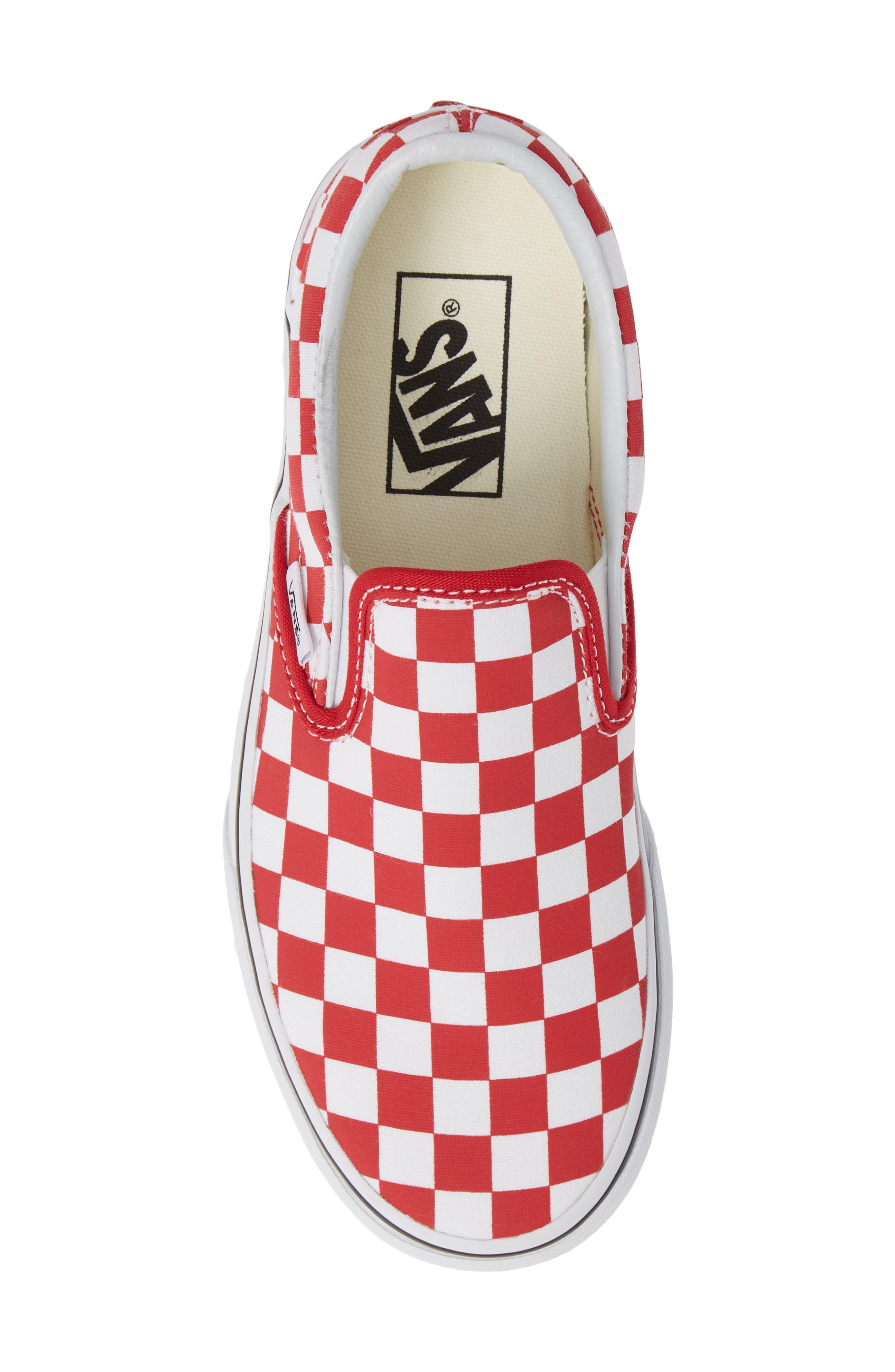 Platform Slip-On Sneaker,                             Alternate thumbnail 5, color,                             Racing Red/ True White