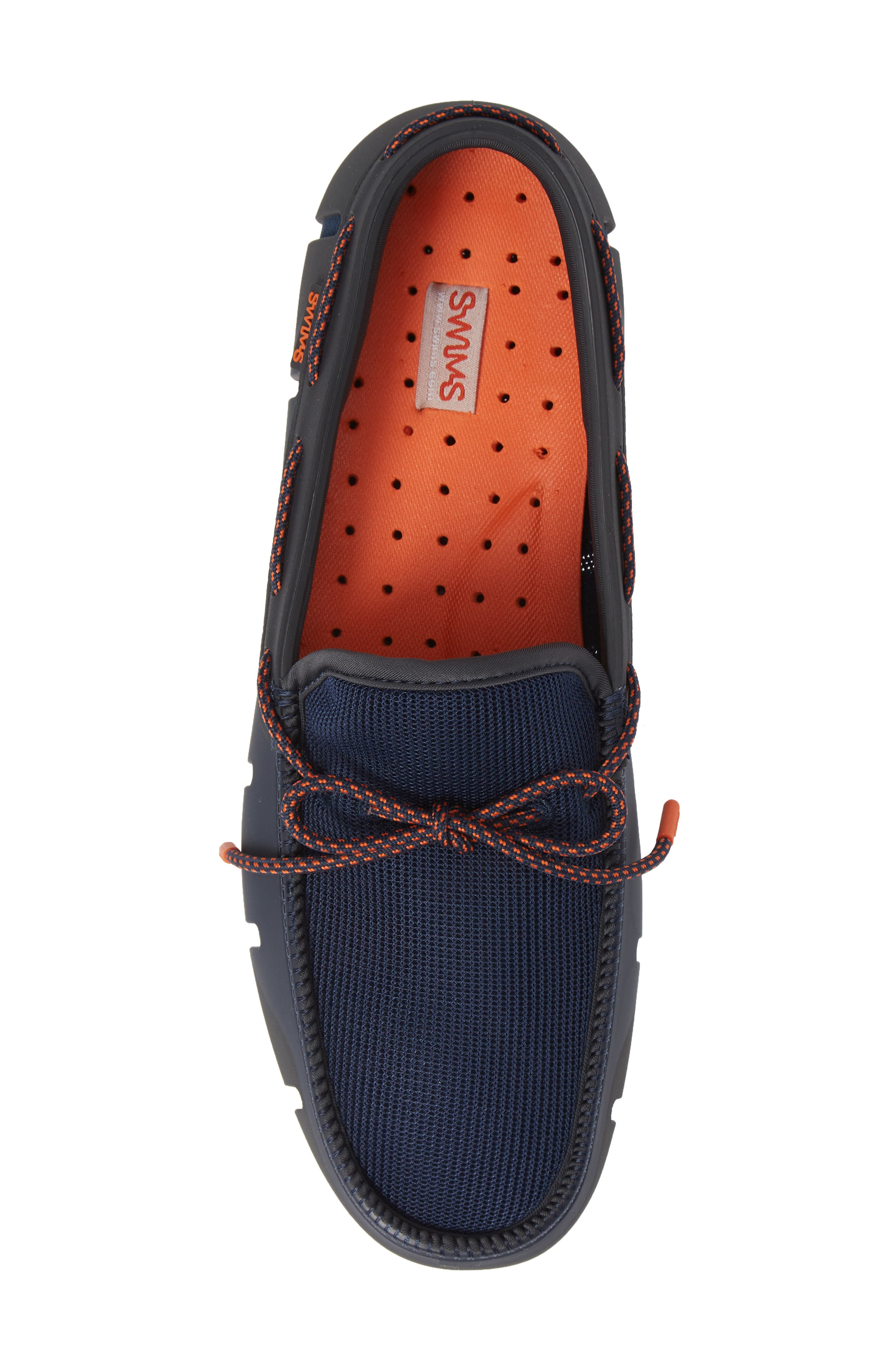 Stride Lace Loafer,                             Alternate thumbnail 3, color,                             Navy/ Dark Gray