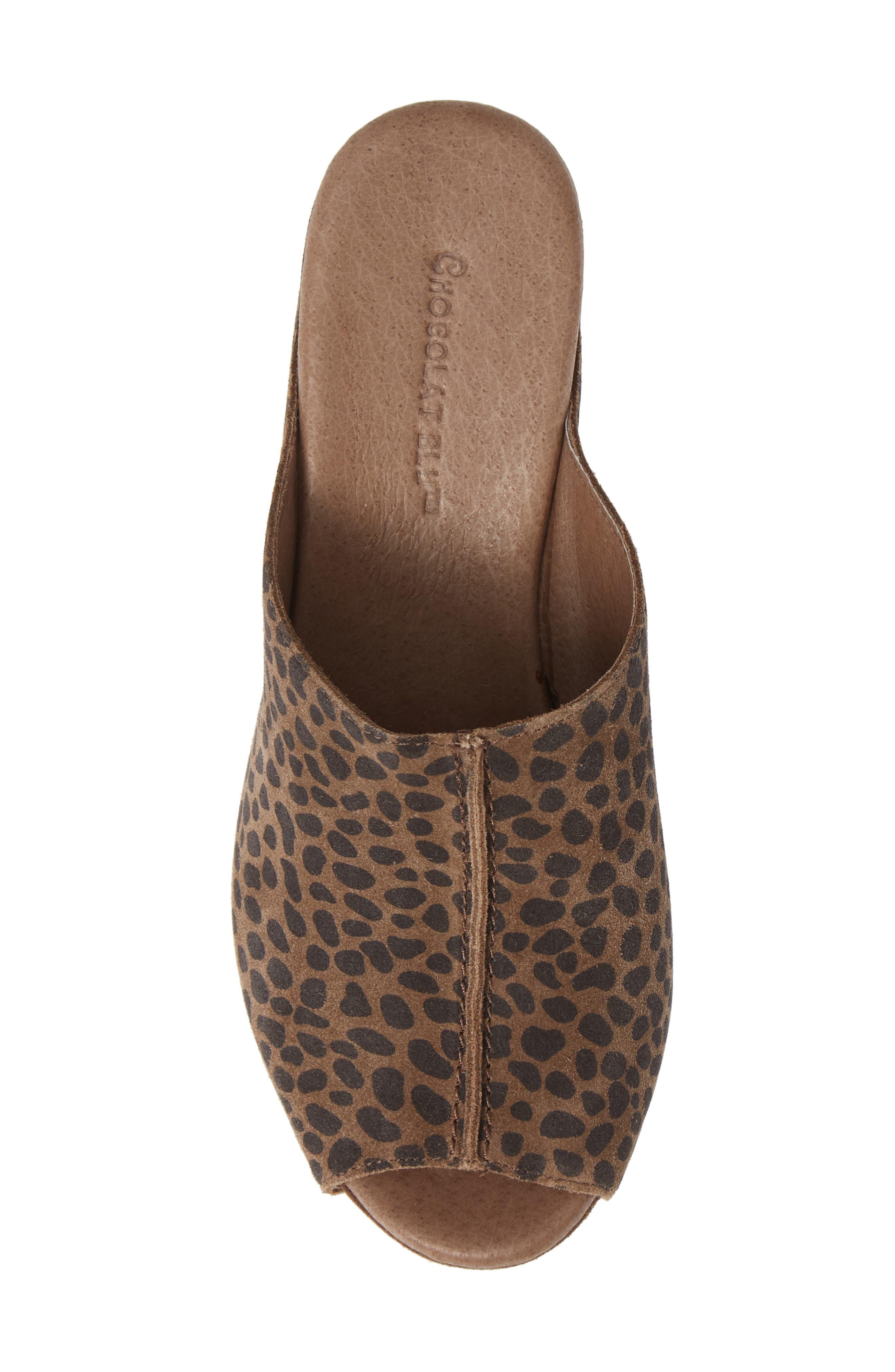 Wynn Peep Toe Mule,                             Alternate thumbnail 4, color,                             Leopard Suede