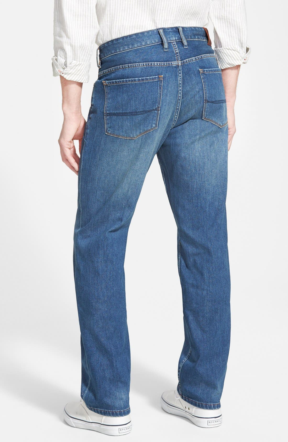 Alternate Image 2  - Tommy Bahama Denim 'Cooper' Straight Leg Jeans (Blue Overdye)