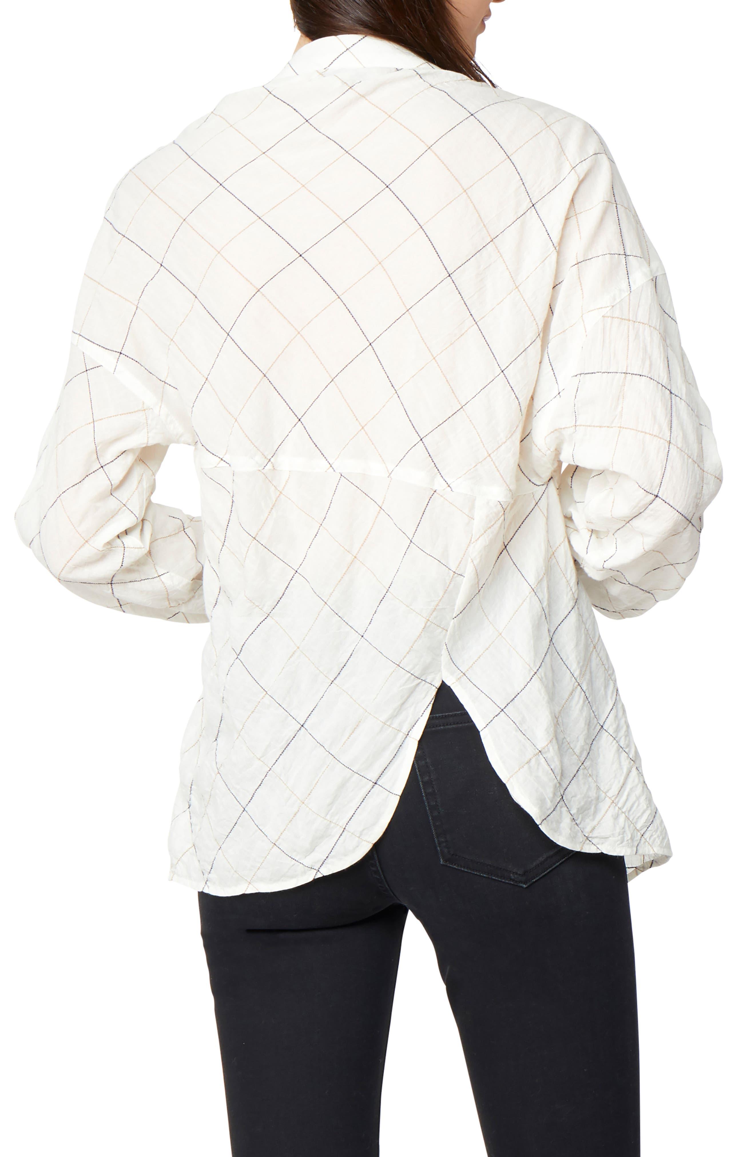 Daphne One Shoulder Cotton Top,                             Alternate thumbnail 2, color,                             White Whisper