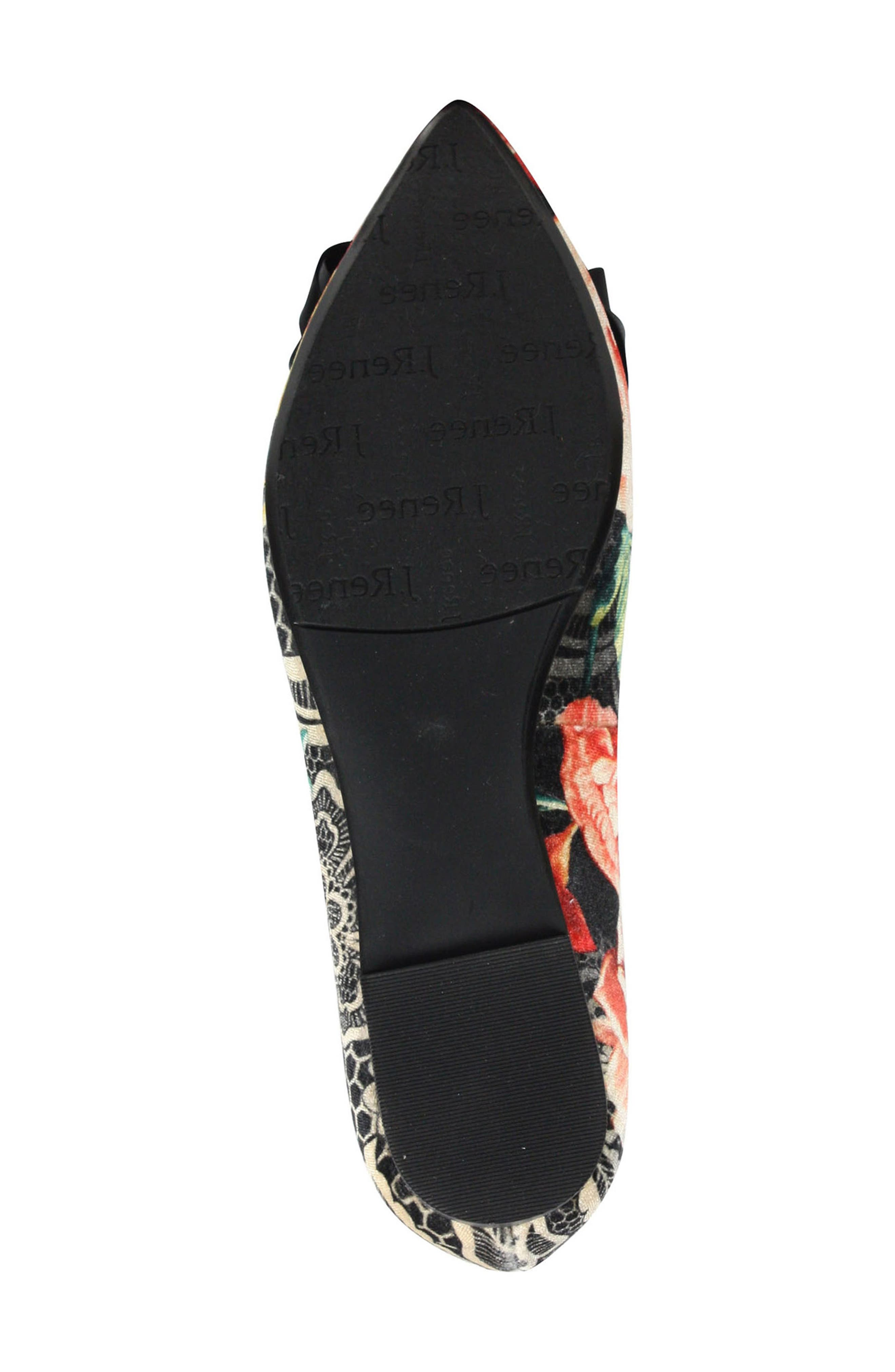 Allitson Bow Flat,                             Alternate thumbnail 5, color,                             Black/ Taupe/ Coral