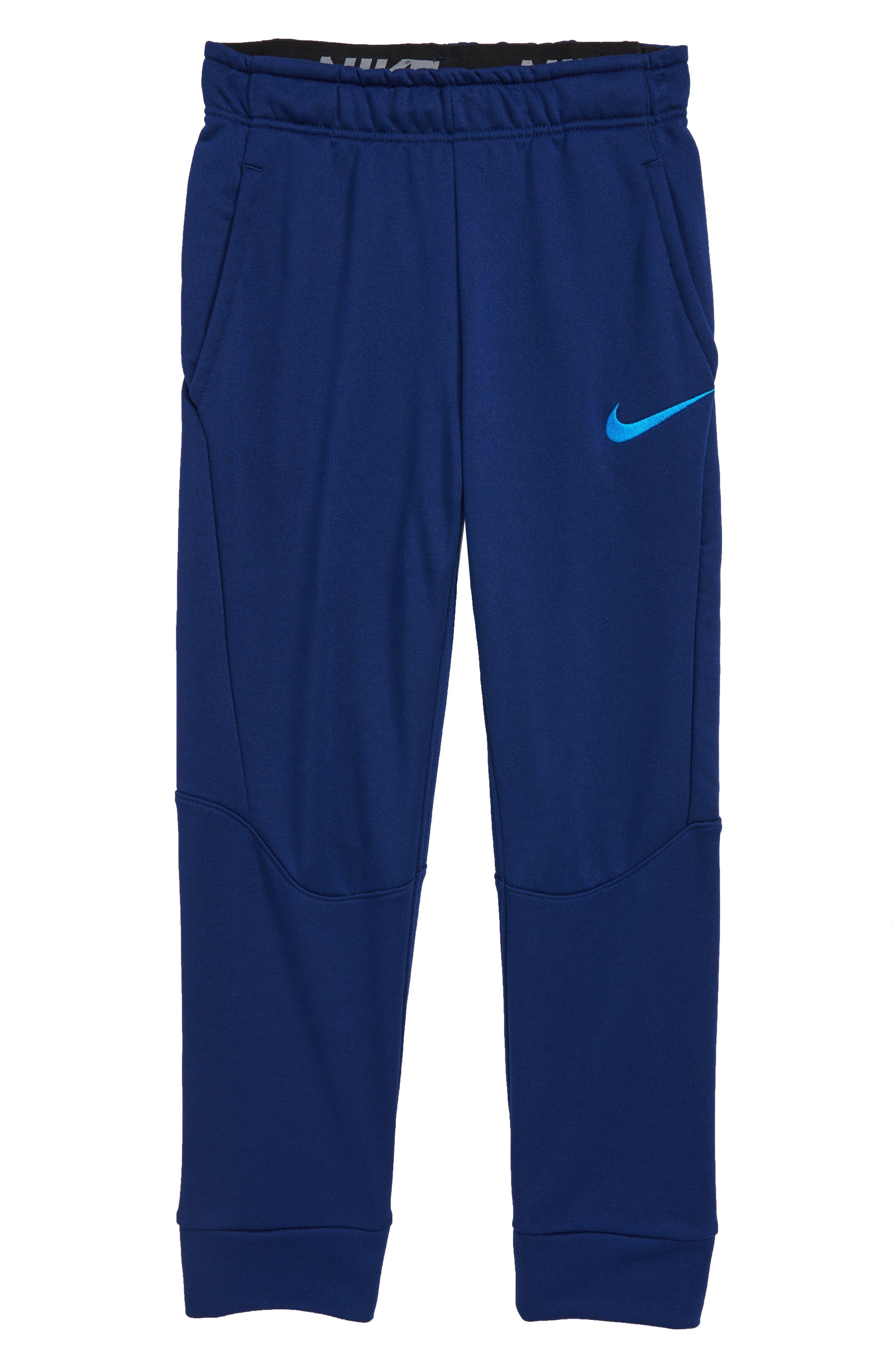 Dry Fleece Training Pants,                             Main thumbnail 1, color,                             Blue Void/ Blue Hero