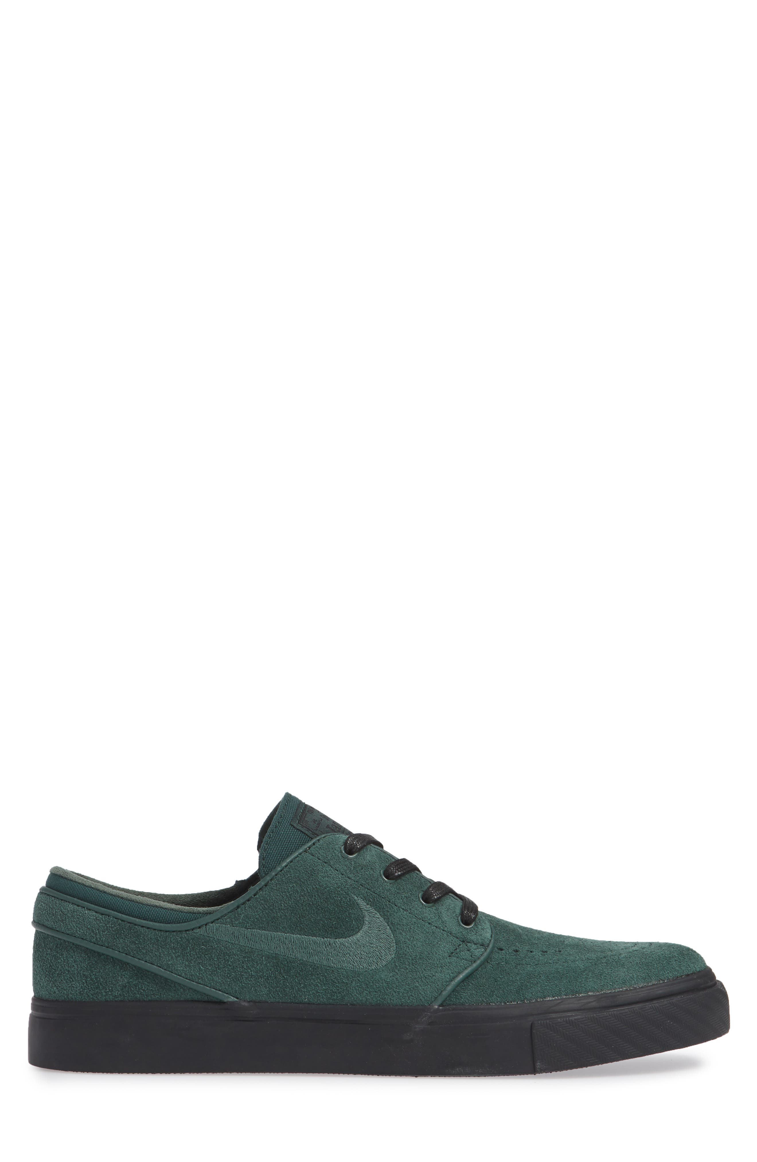 'Zoom - Stefan Janoski' Skate Shoe,                             Alternate thumbnail 5, color,                             Midnight Green/ Black