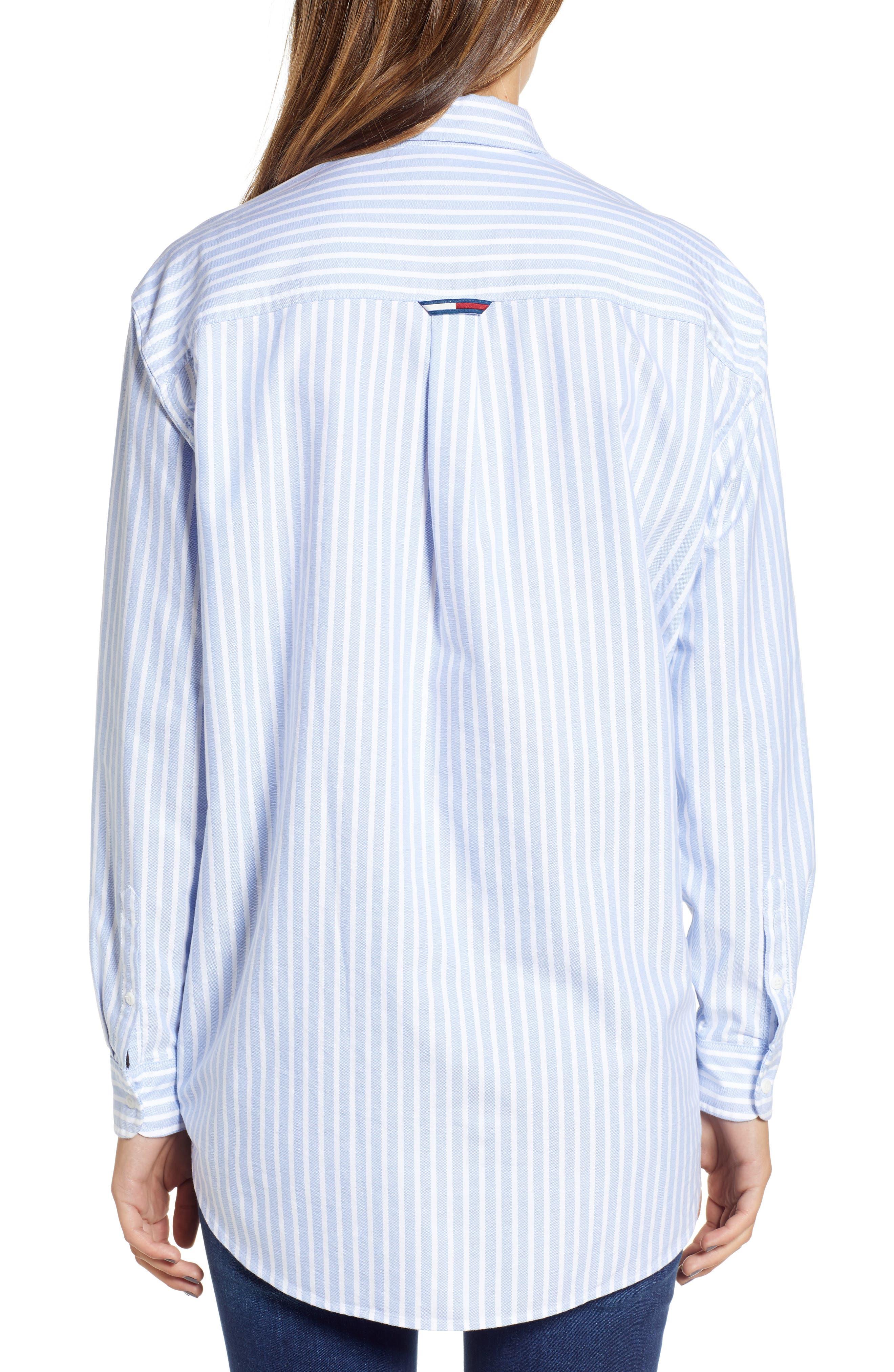 Classics Stripe Shirt,                             Alternate thumbnail 2, color,                             Light Blue / Bright White