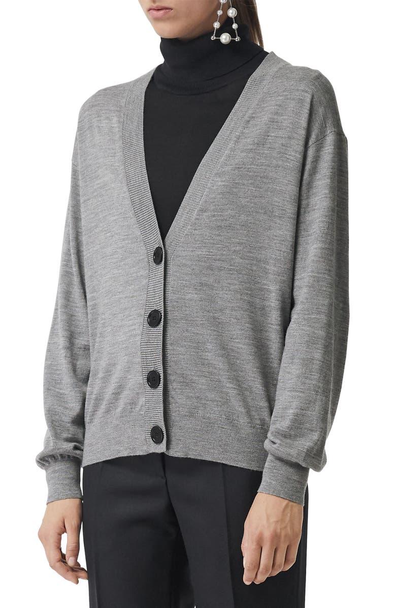 Dornoch Check Detail Merino Wool Cardigan