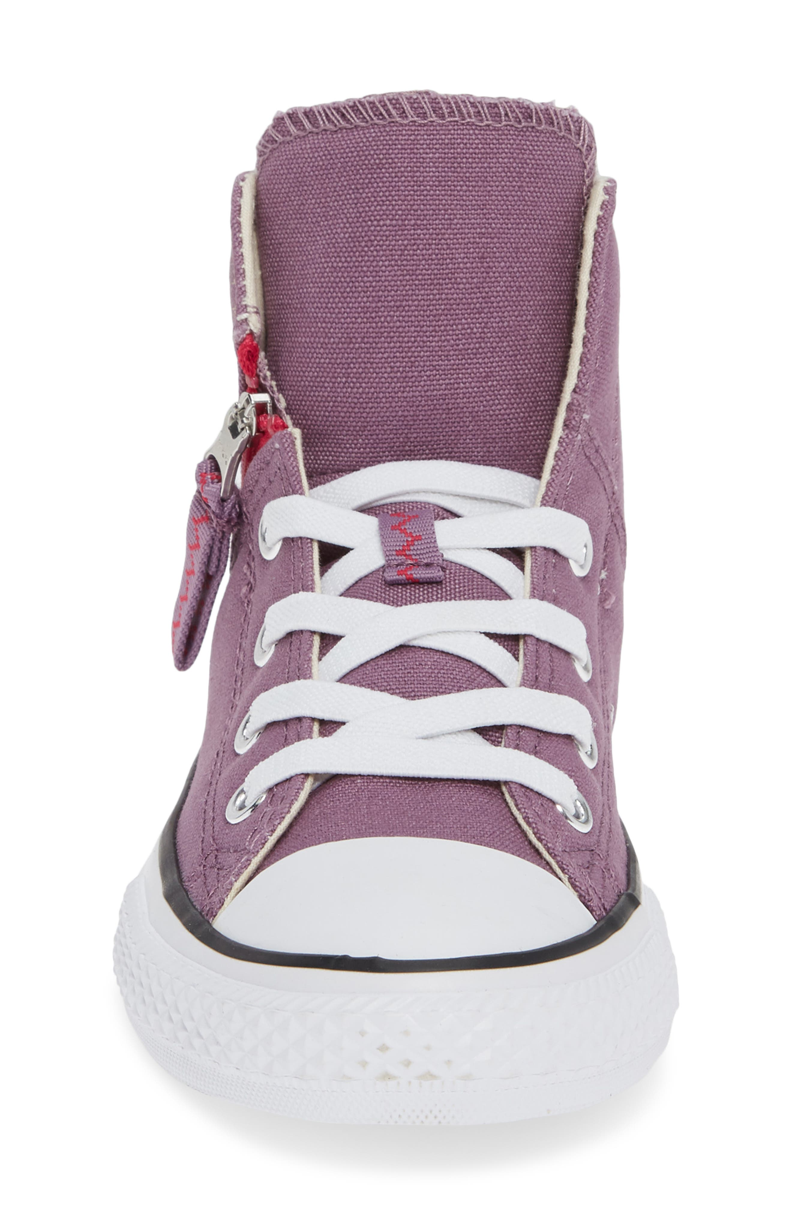 Chuck Taylor<sup>®</sup> All Star<sup>®</sup> Pull Zip High Top Sneaker,                             Alternate thumbnail 5, color,                             Violet Dust
