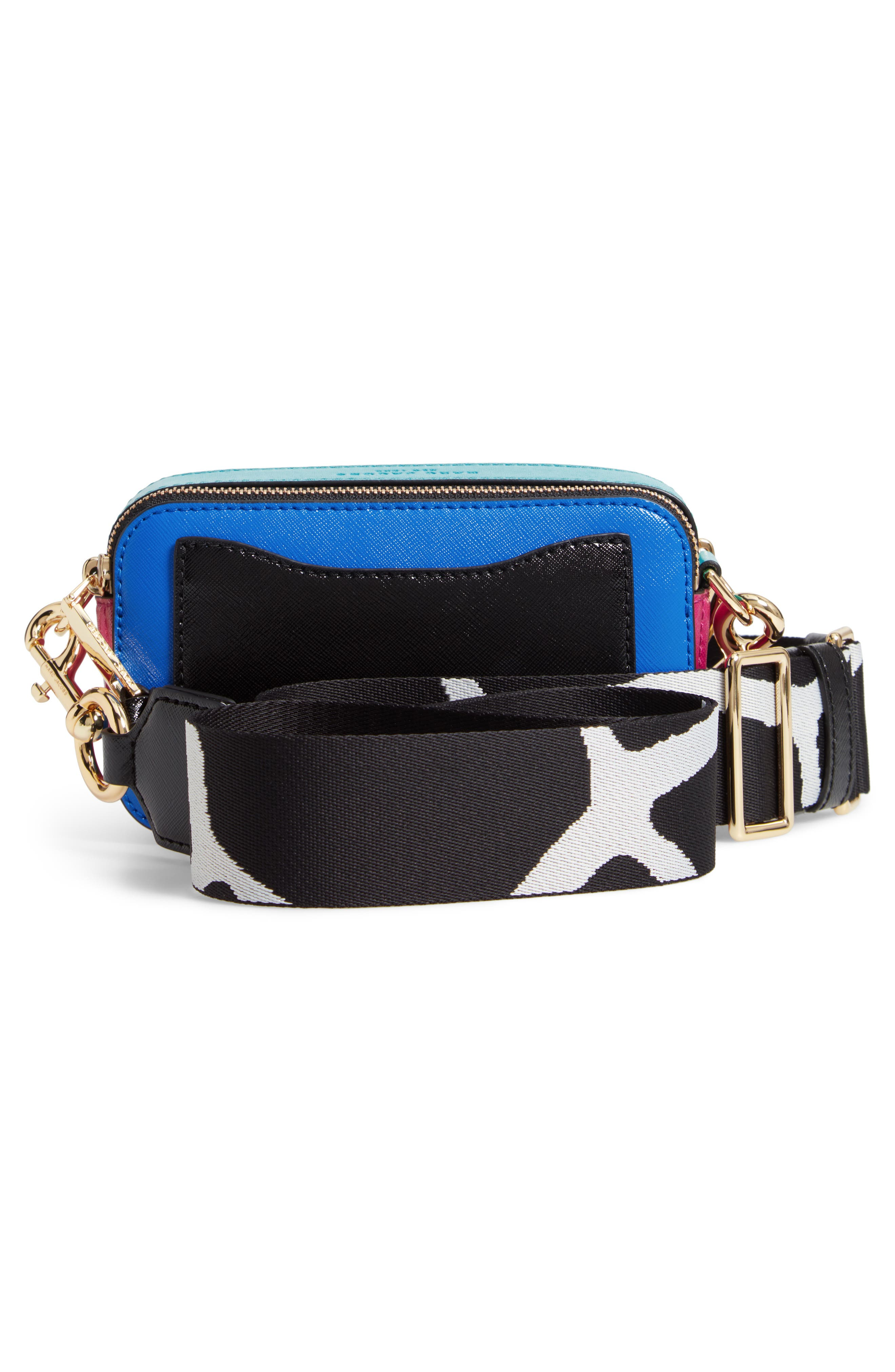 Snapshot Crossbody Bag,                             Alternate thumbnail 3, color,                             Academy Blue Multi